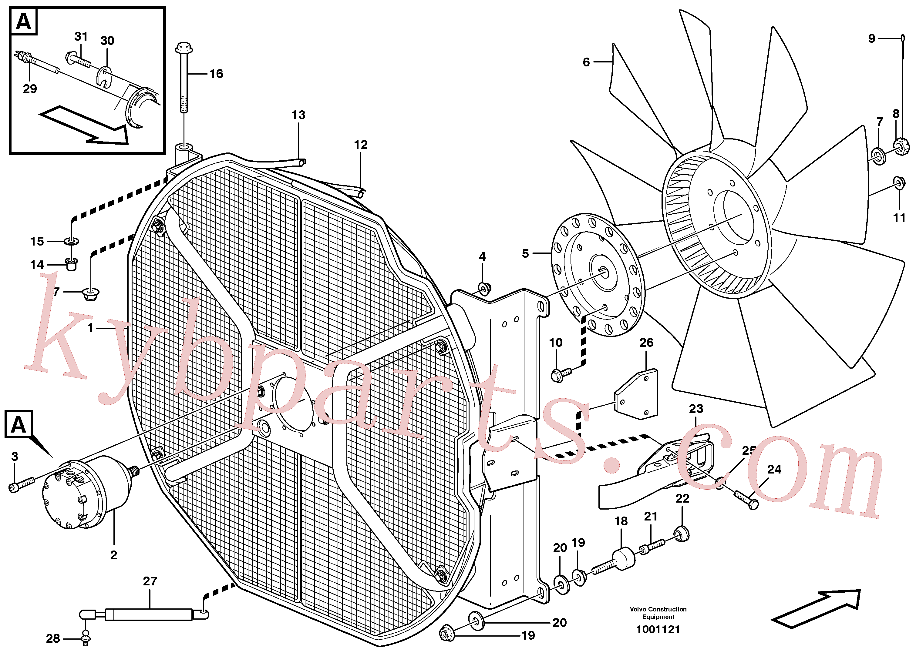 VOE13960145 for Volvo Fan and fan housing(1001121 assembly)