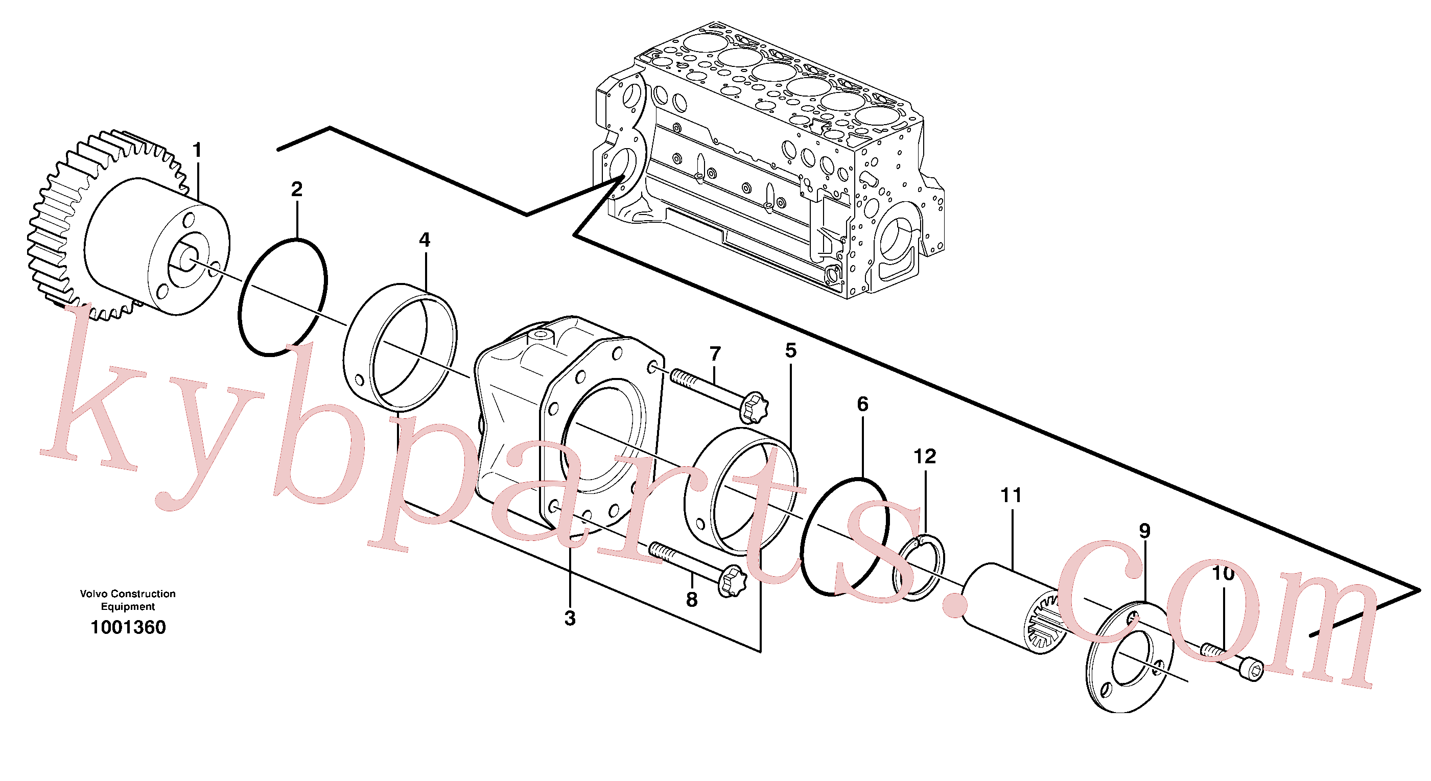 ZM2900652 for Volvo Pump drive power take-off(1001360 assembly)