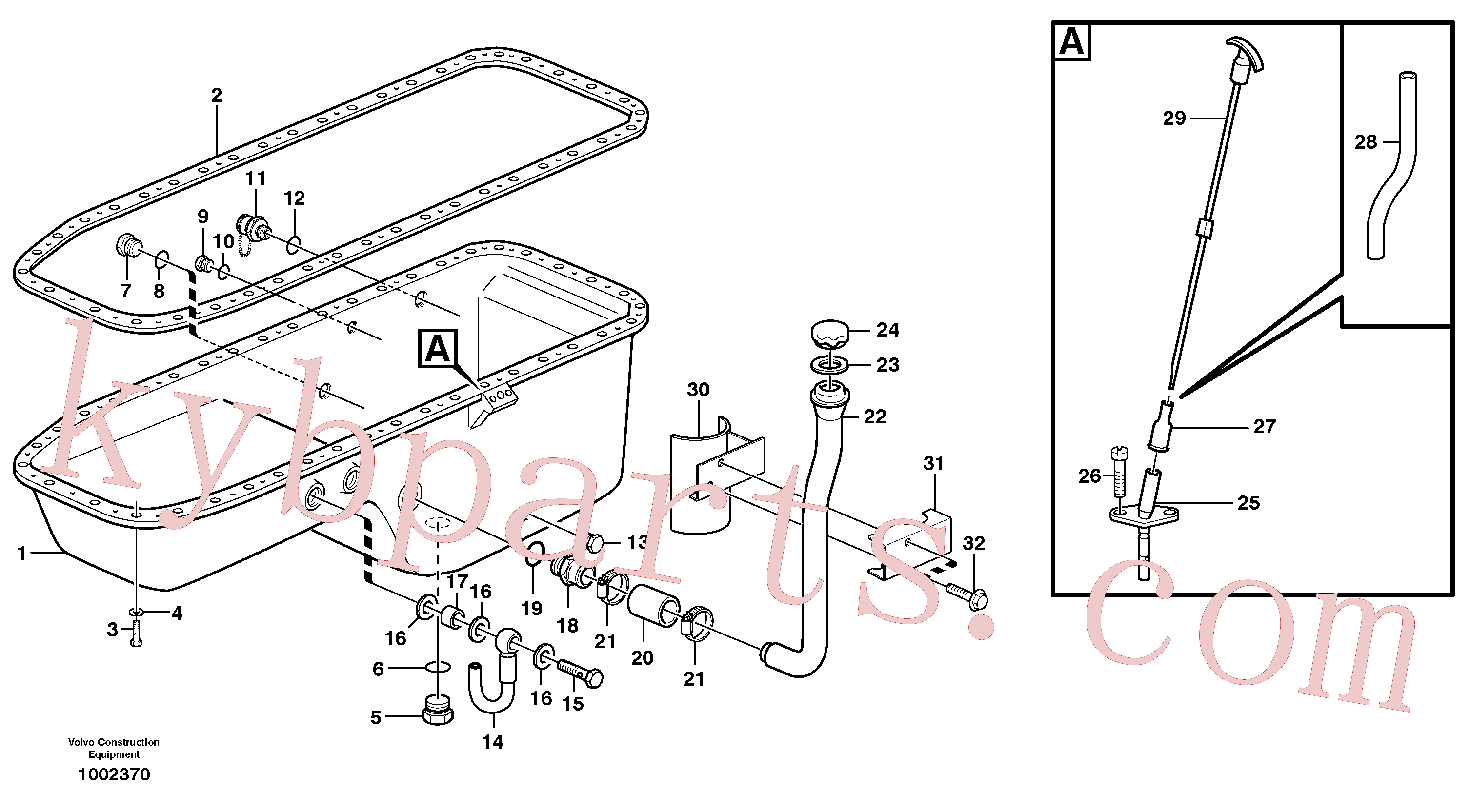 VOE3547599 for Volvo Oil sump(1002370 assembly)