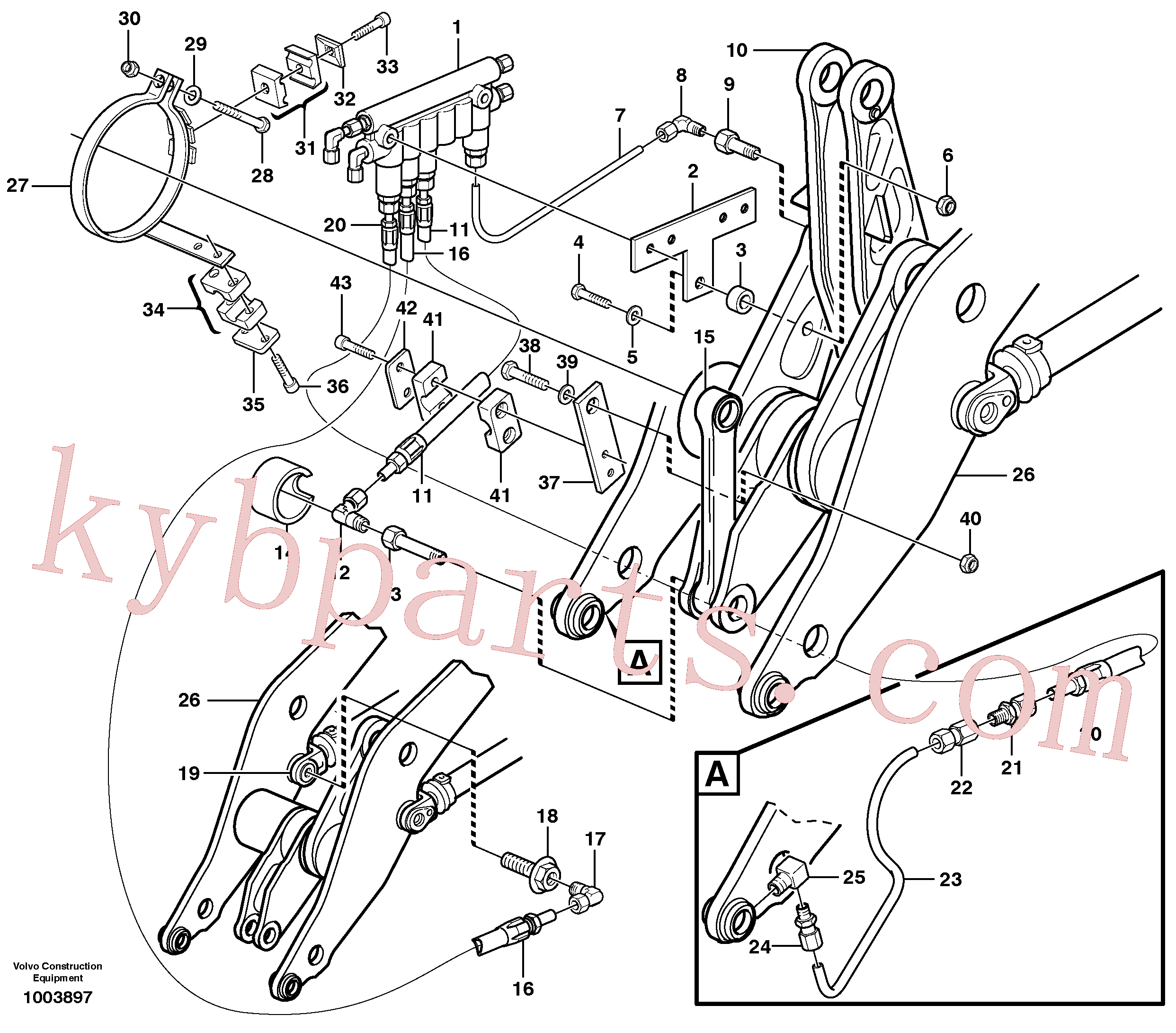 VOE11708065 for Volvo Distribution block, B3.(1003897 assembly)