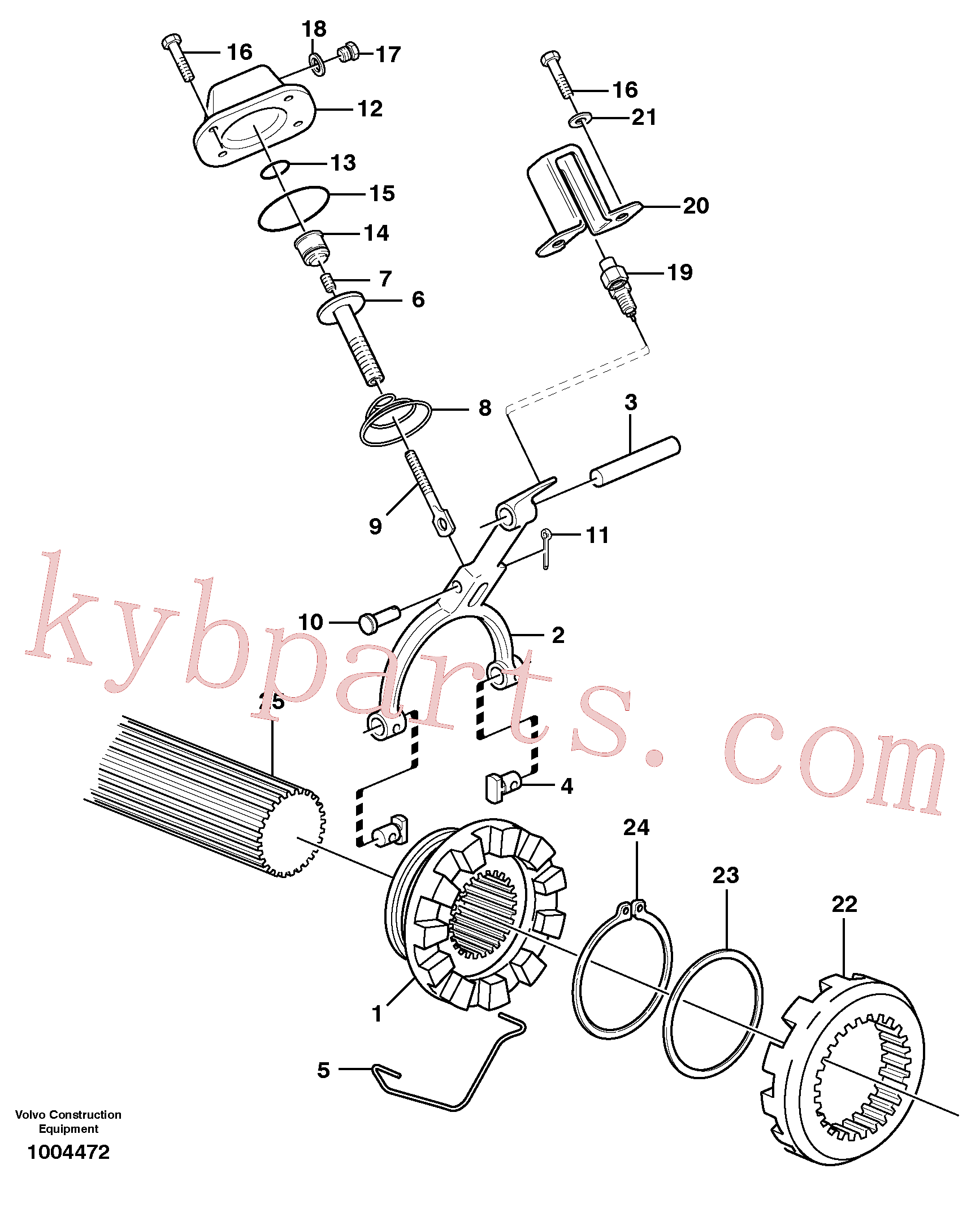 VOE11102798 for Volvo Differential lock(1004472 assembly)
