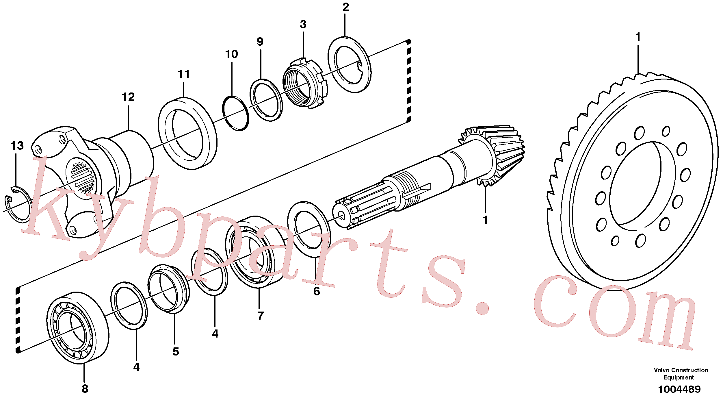 VOE11709288 for Volvo Pinion(1004489 assembly)