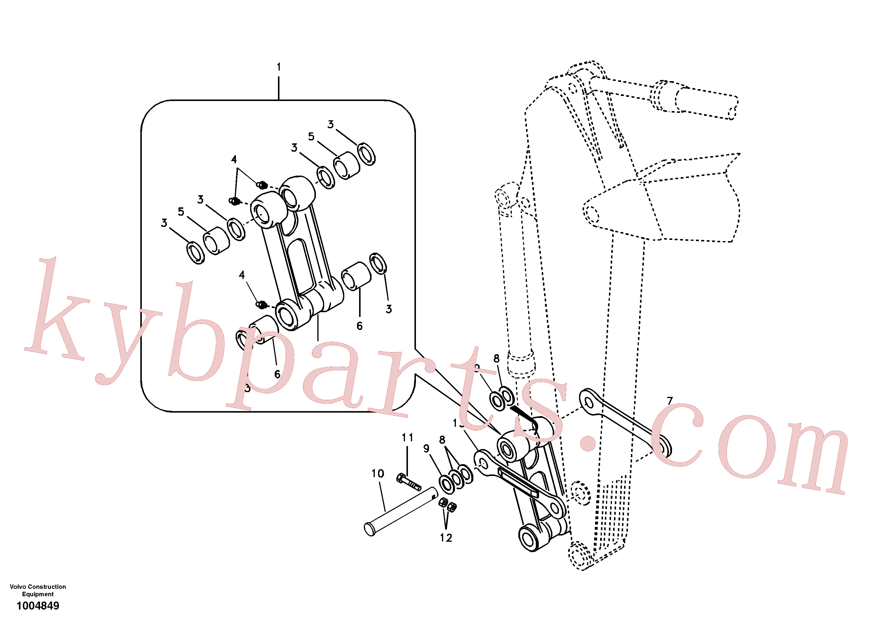 VOE14548218 for Volvo Links to connecting rod(1004849 assembly)