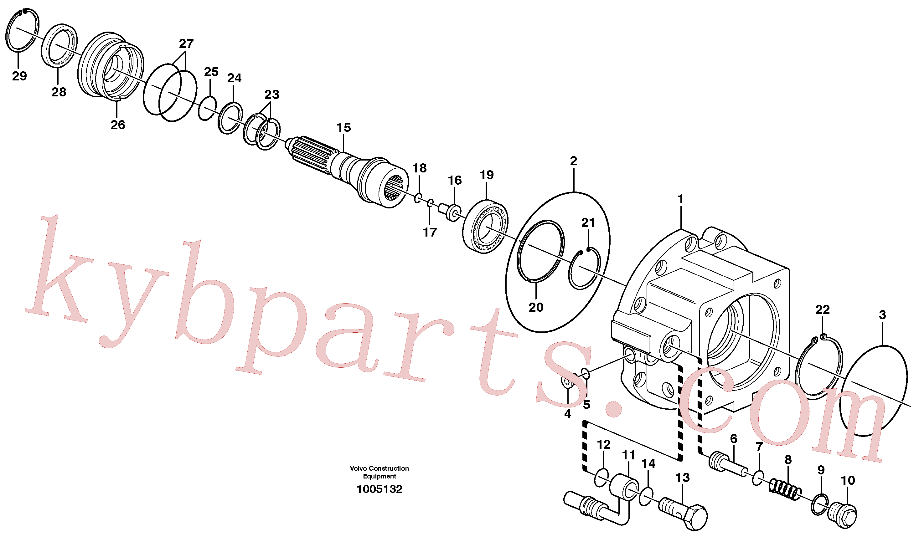 VOE11705123 for Volvo Dropbox, Pump housing, Rear axle, Pump housing(1005132 assembly)