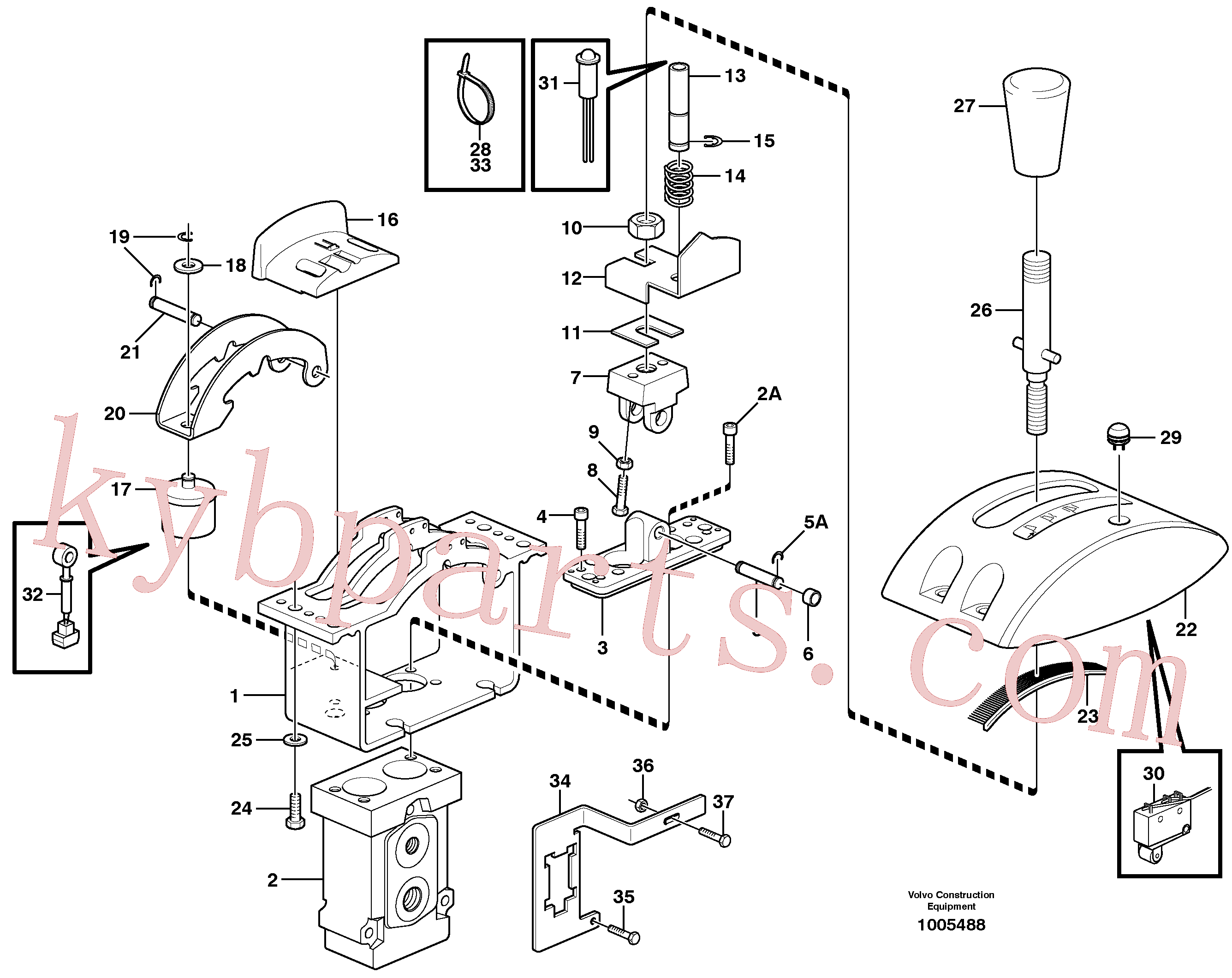 VOE11059811 for Volvo Control valve(1005488 assembly)