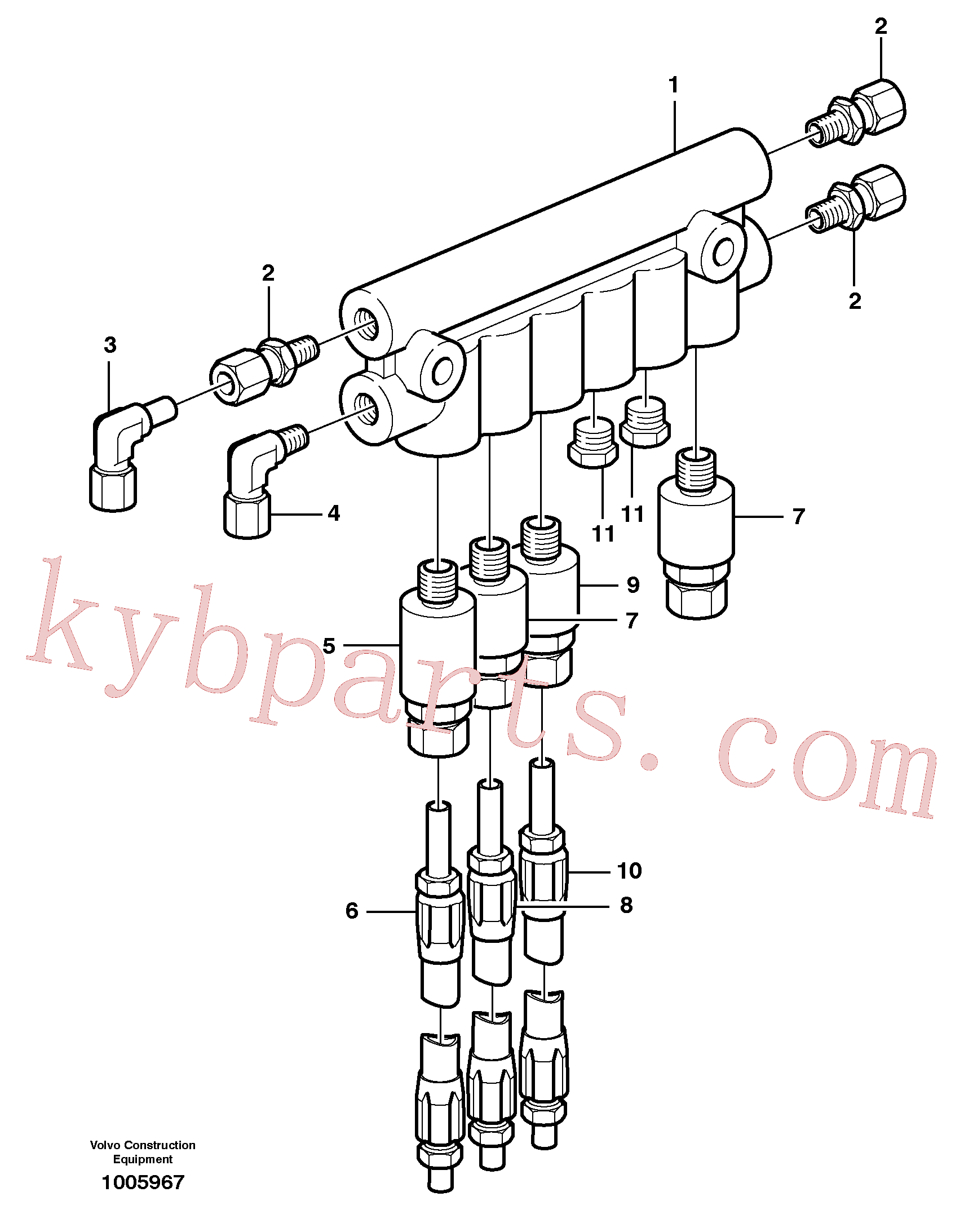VOE11708065 for Volvo Distribution block, B3.(1005967 assembly)