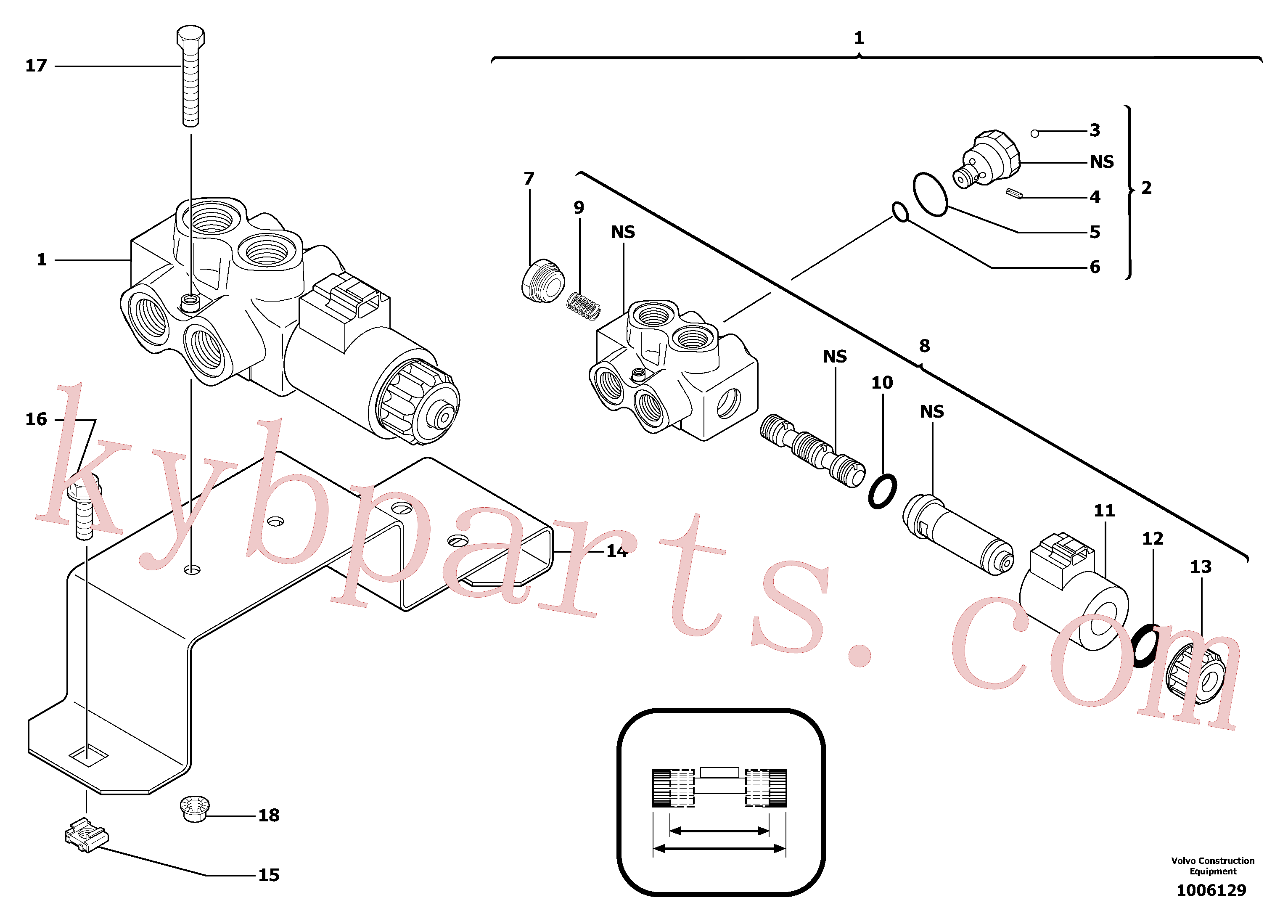 PJ7415277 for Volvo Selector / variable track(1006129 assembly)