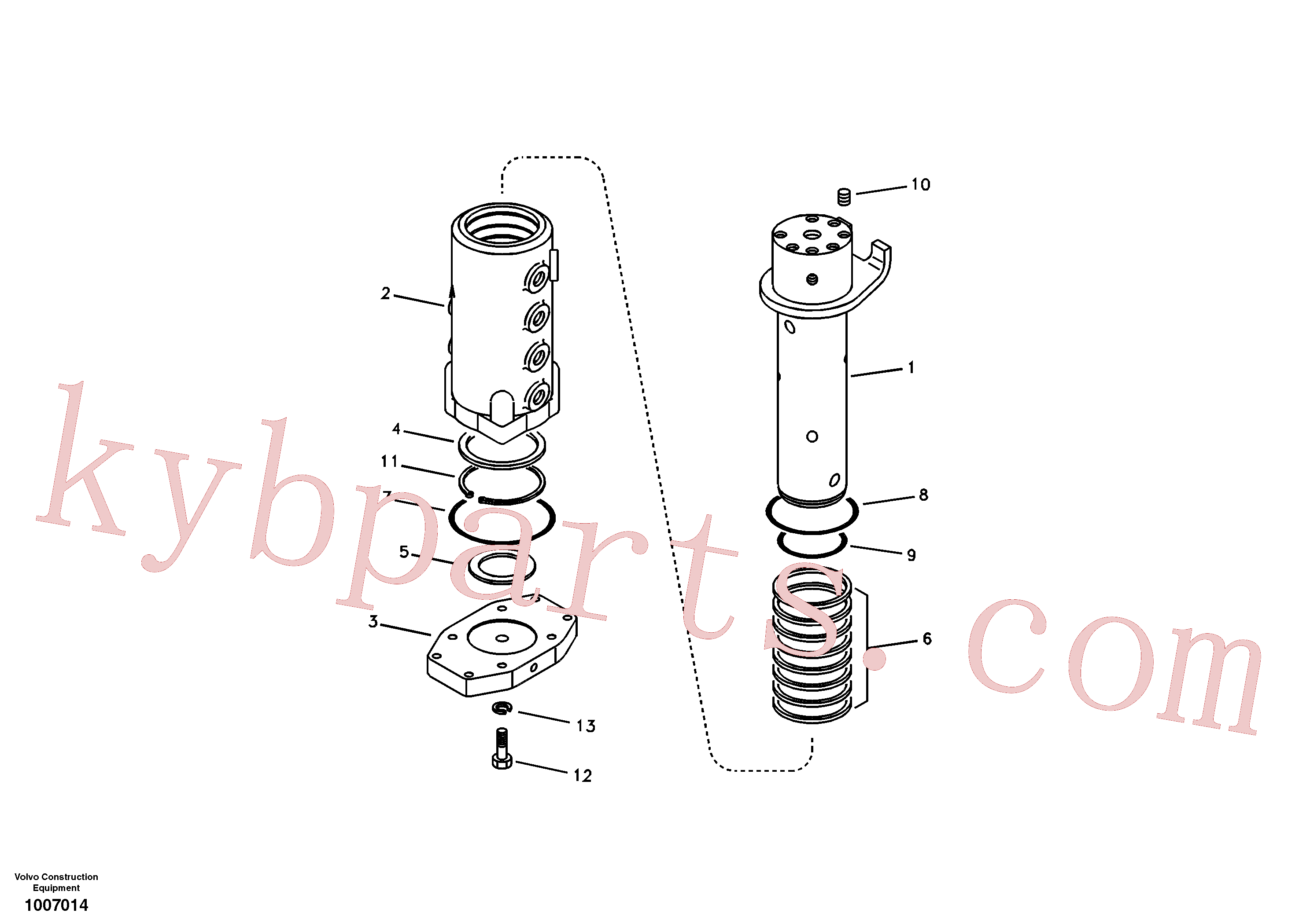 SA9511-12080 for Volvo Turning joint(1007014 assembly)