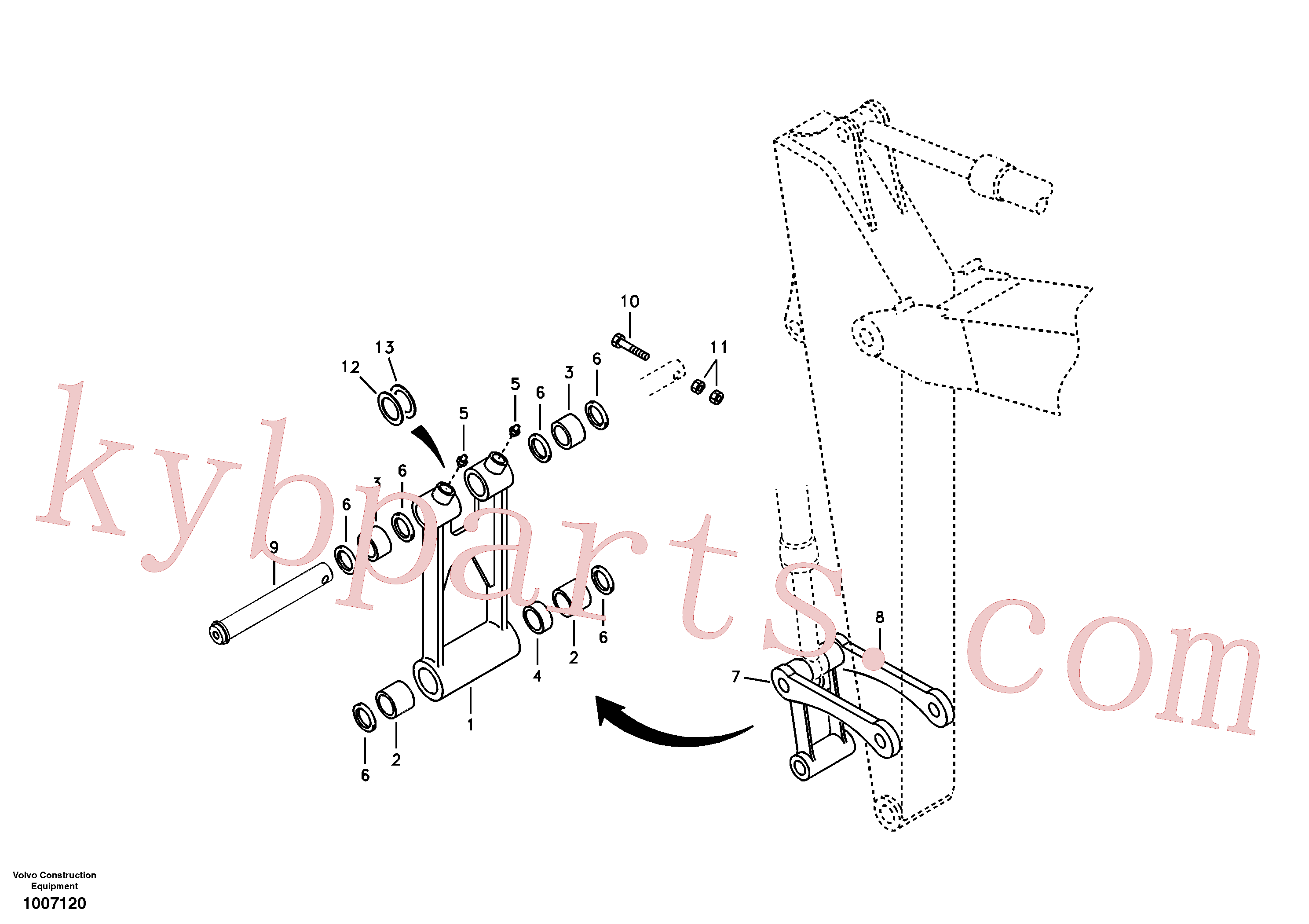 VOE14504227 for Volvo Links to connecting rod(1007120 assembly)