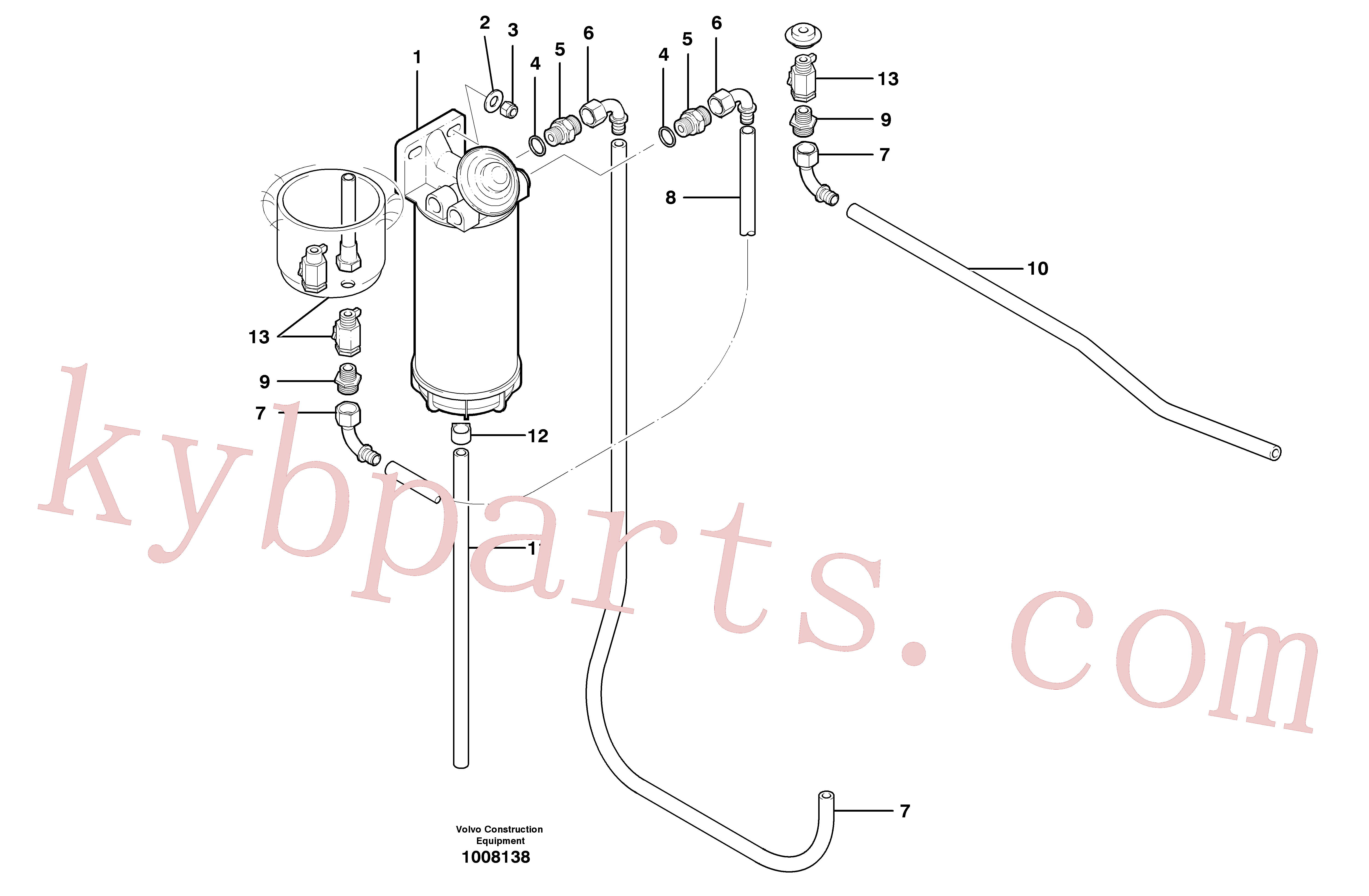 SA9426-20050 for Volvo Fuel circuit(1008138 assembly)