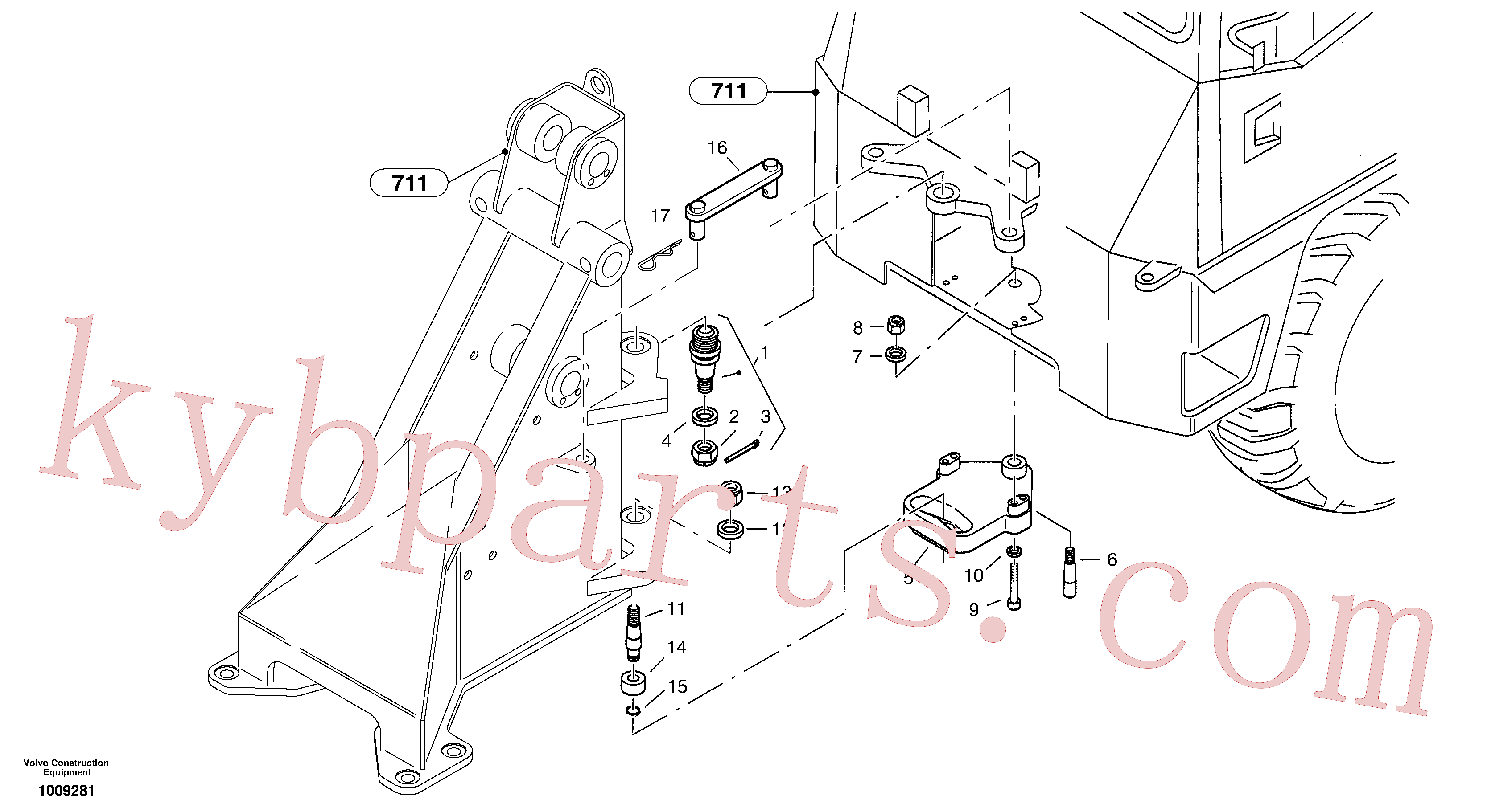 VOE949523 for Volvo Articulation point(1009281 assembly)