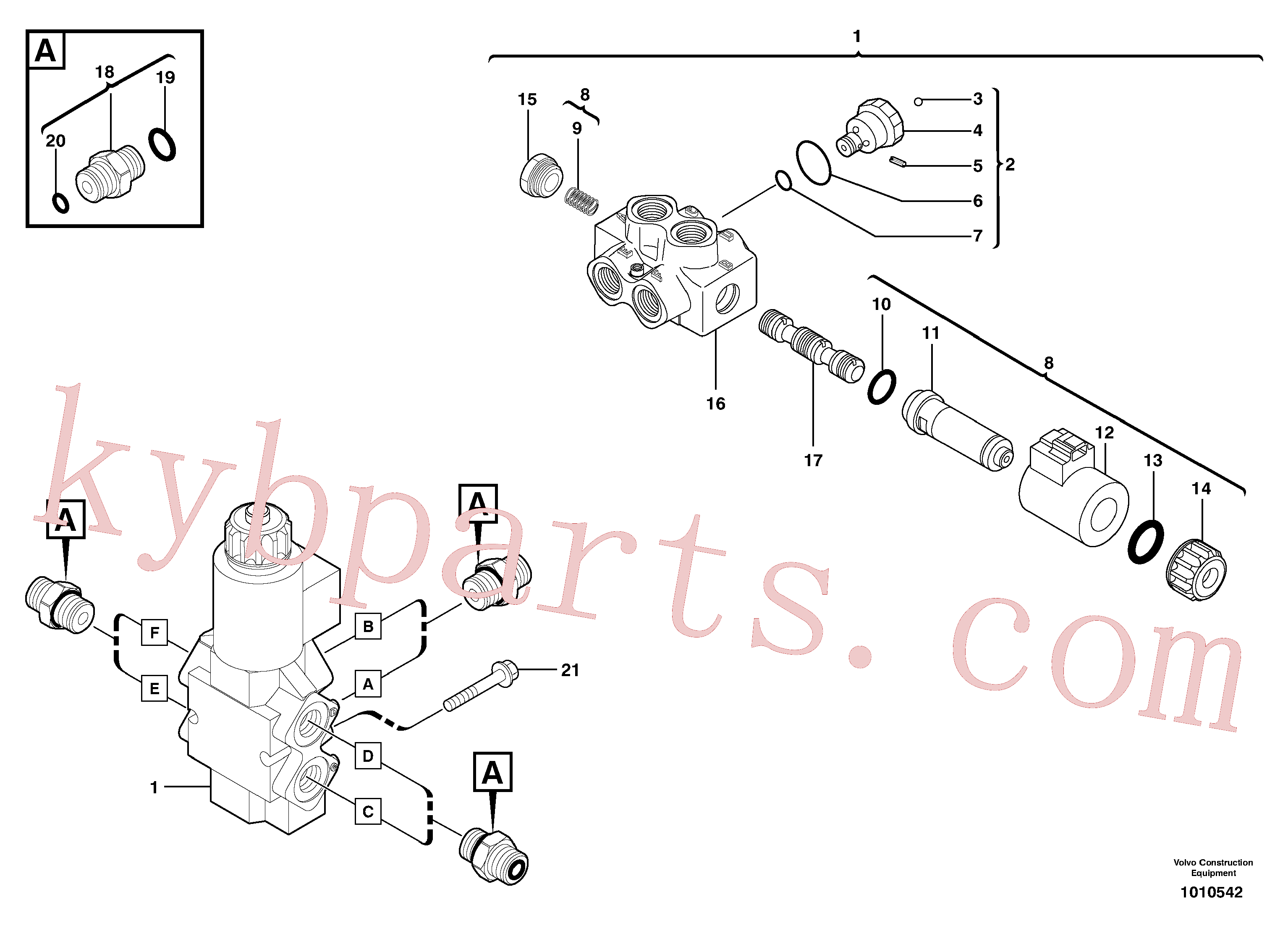PJ7415277 for Volvo Slewing-offset selector switch(1010542 assembly)