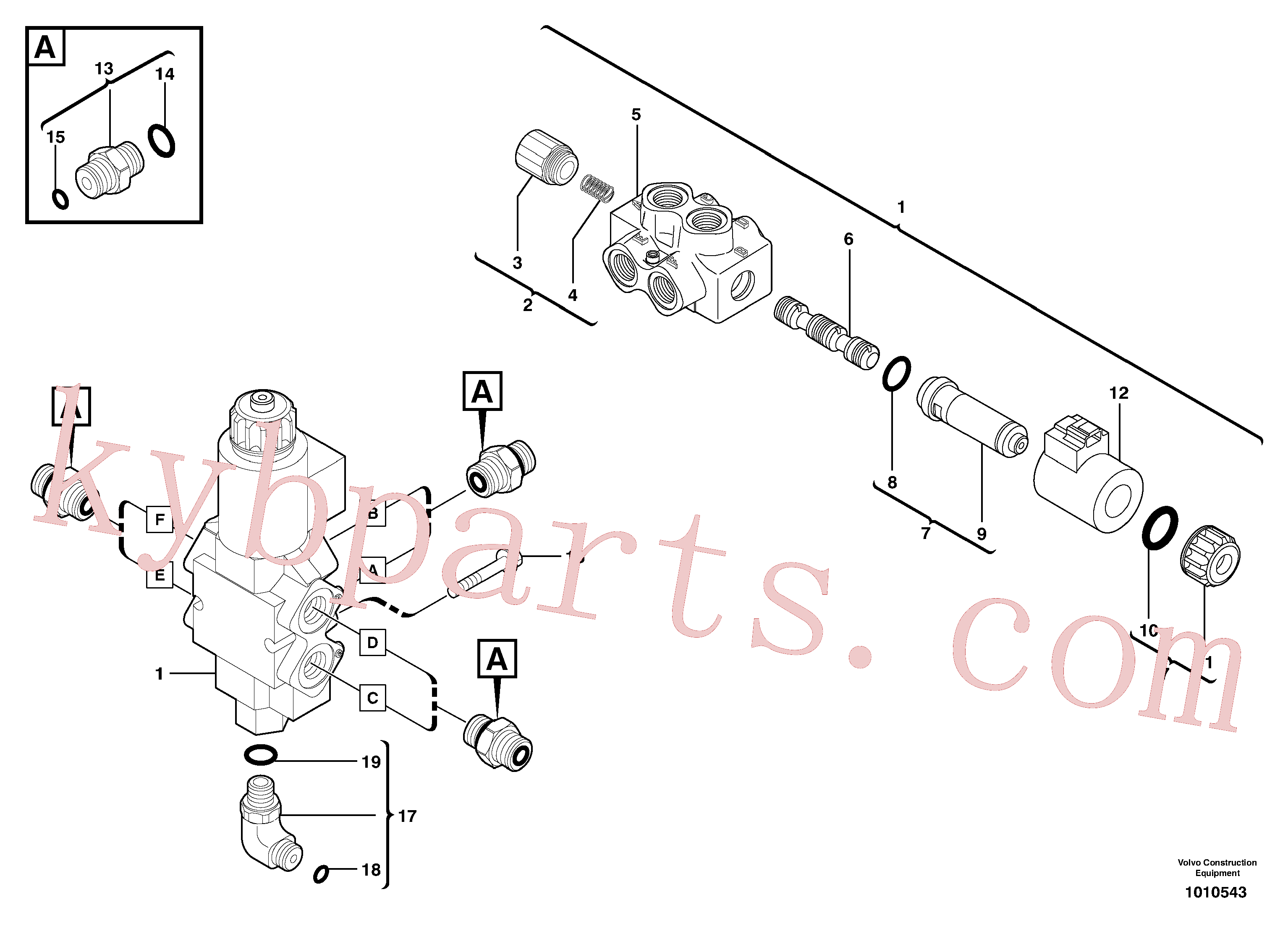 VOE15001976 for Volvo Slewing-offset selector switch ( for valve )(1010543 assembly)