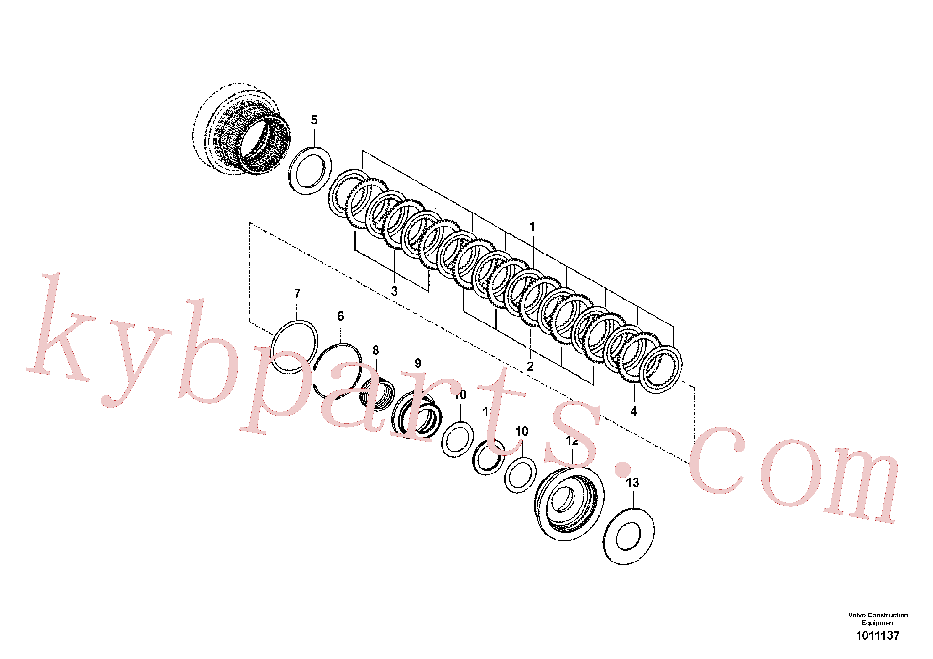 VOE14558046 for Volvo Coupling(1011137 assembly)