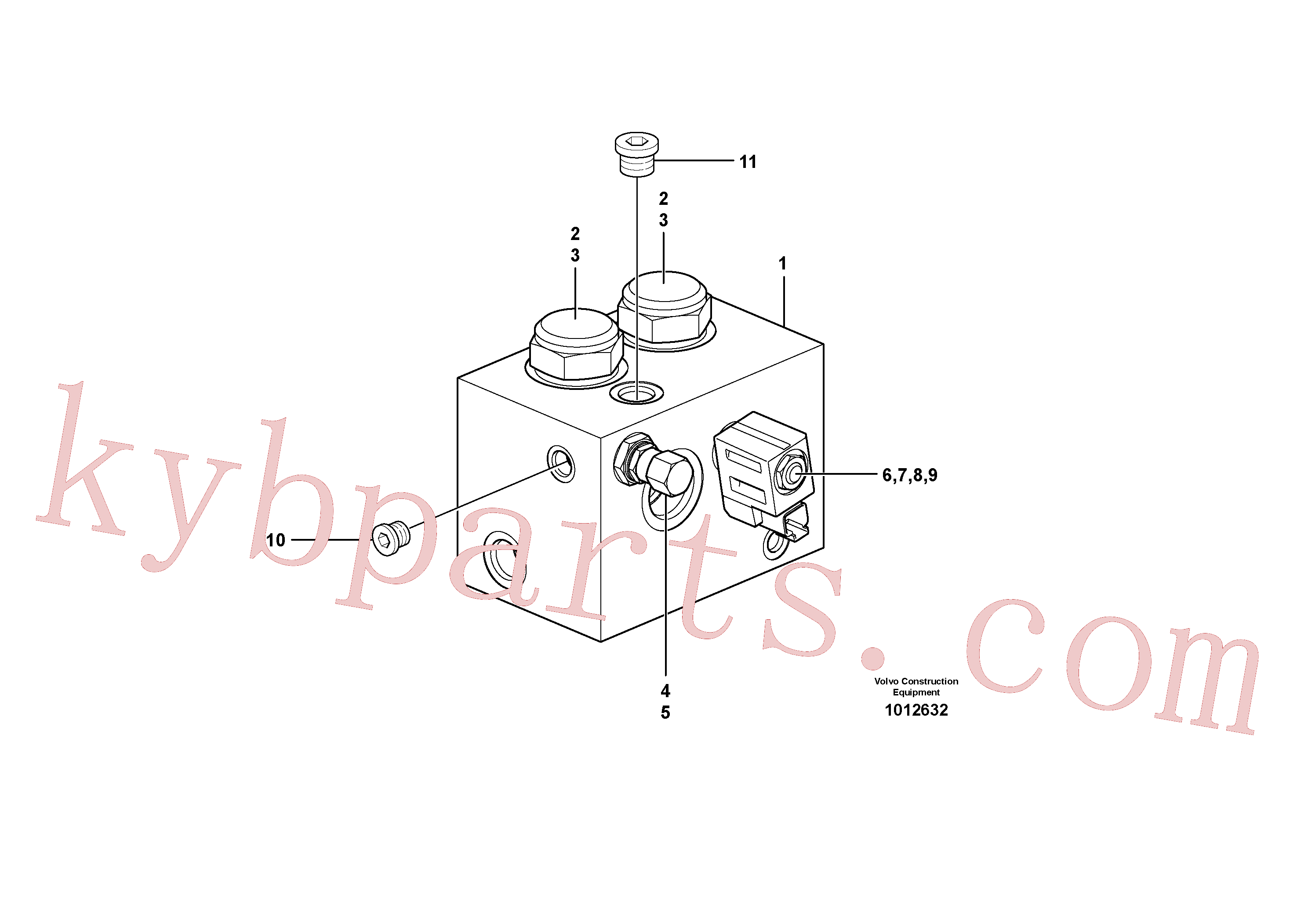 VOE11713401 for Volvo High flow valve(1012632 assembly)