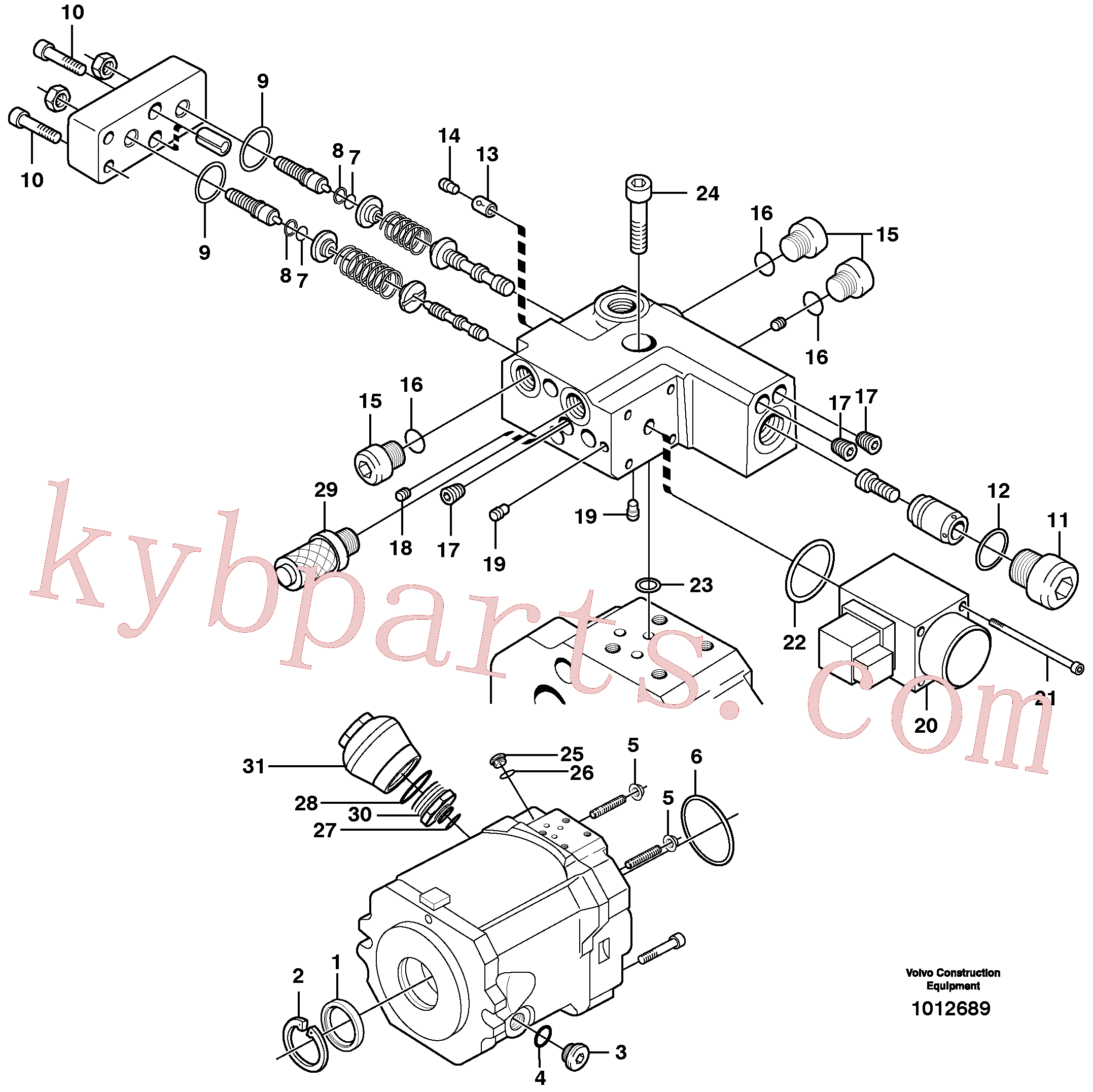 VOE11705612 for Volvo Hydraulic pump(1012689 assembly)