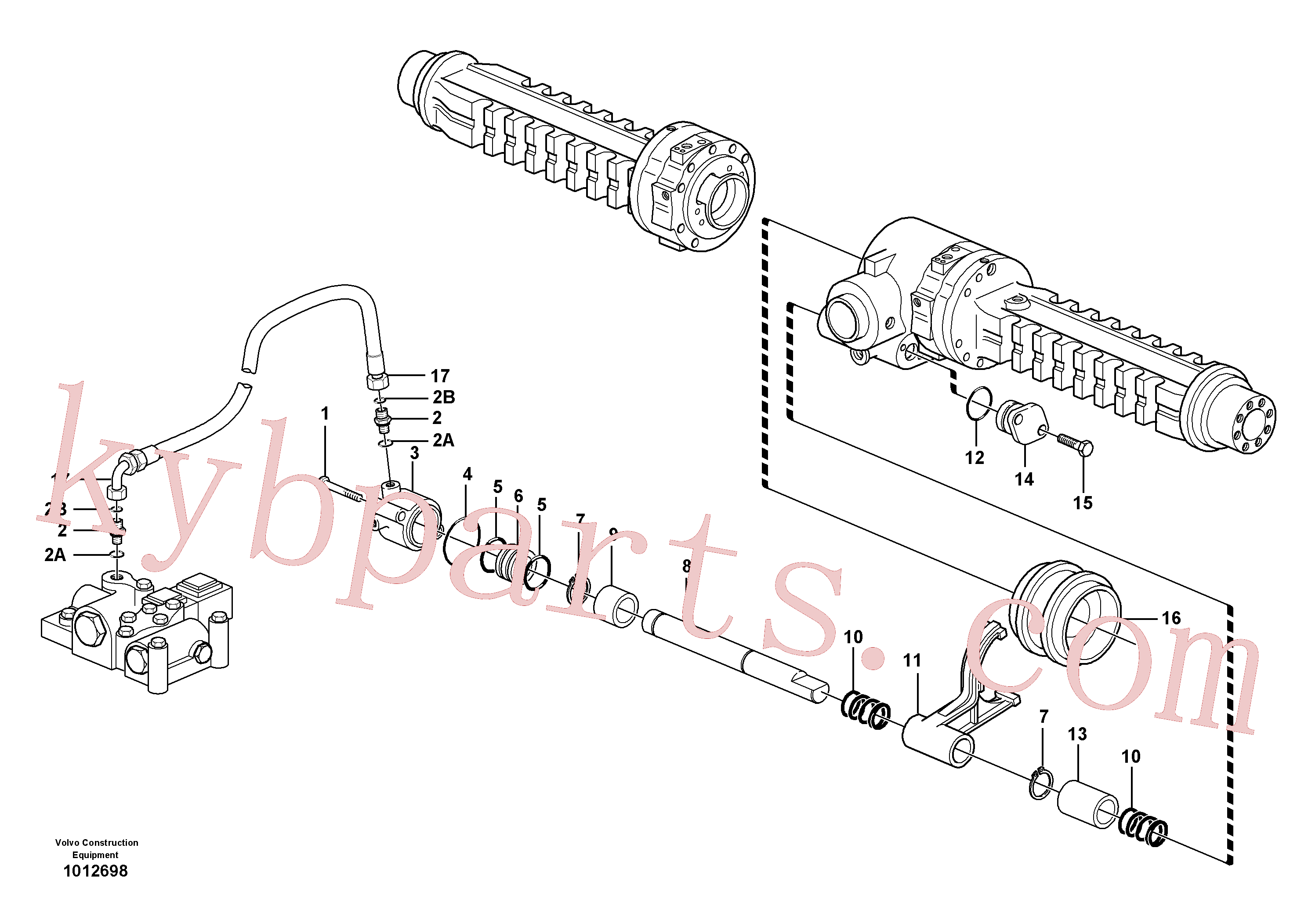 VOE11709326 for Volvo Differential lock(1012698 assembly)