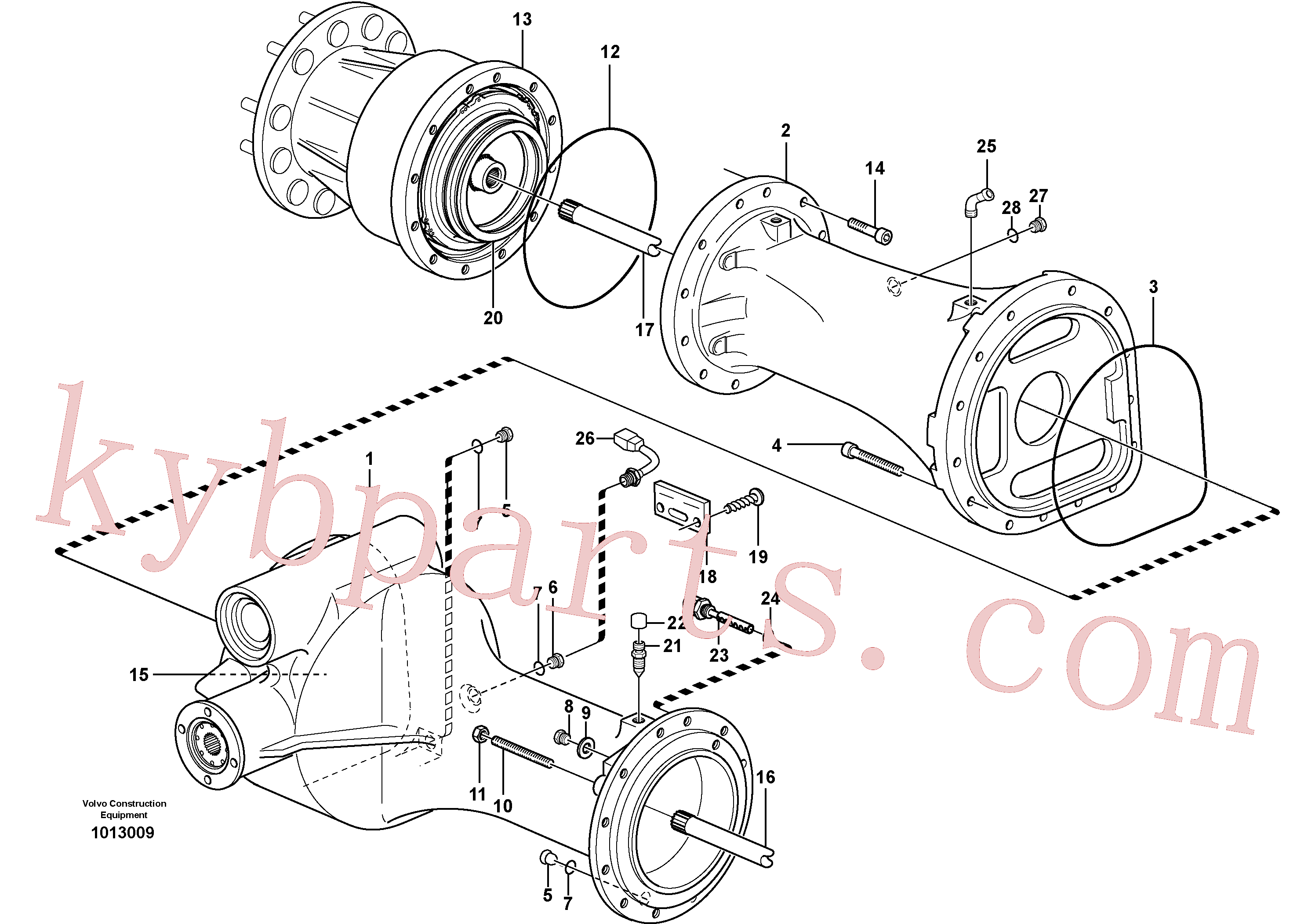 VOE13934510 for Volvo Planet shaft, rear(1013009 assembly)