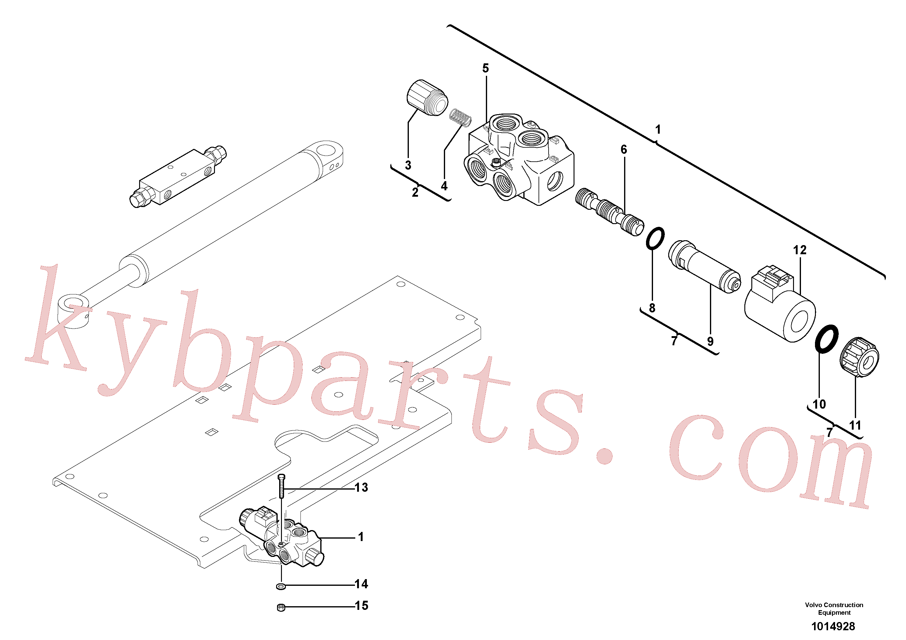 VOE15001976 for Volvo Slewing-offset selector switch ( for valve )(1014928 assembly)