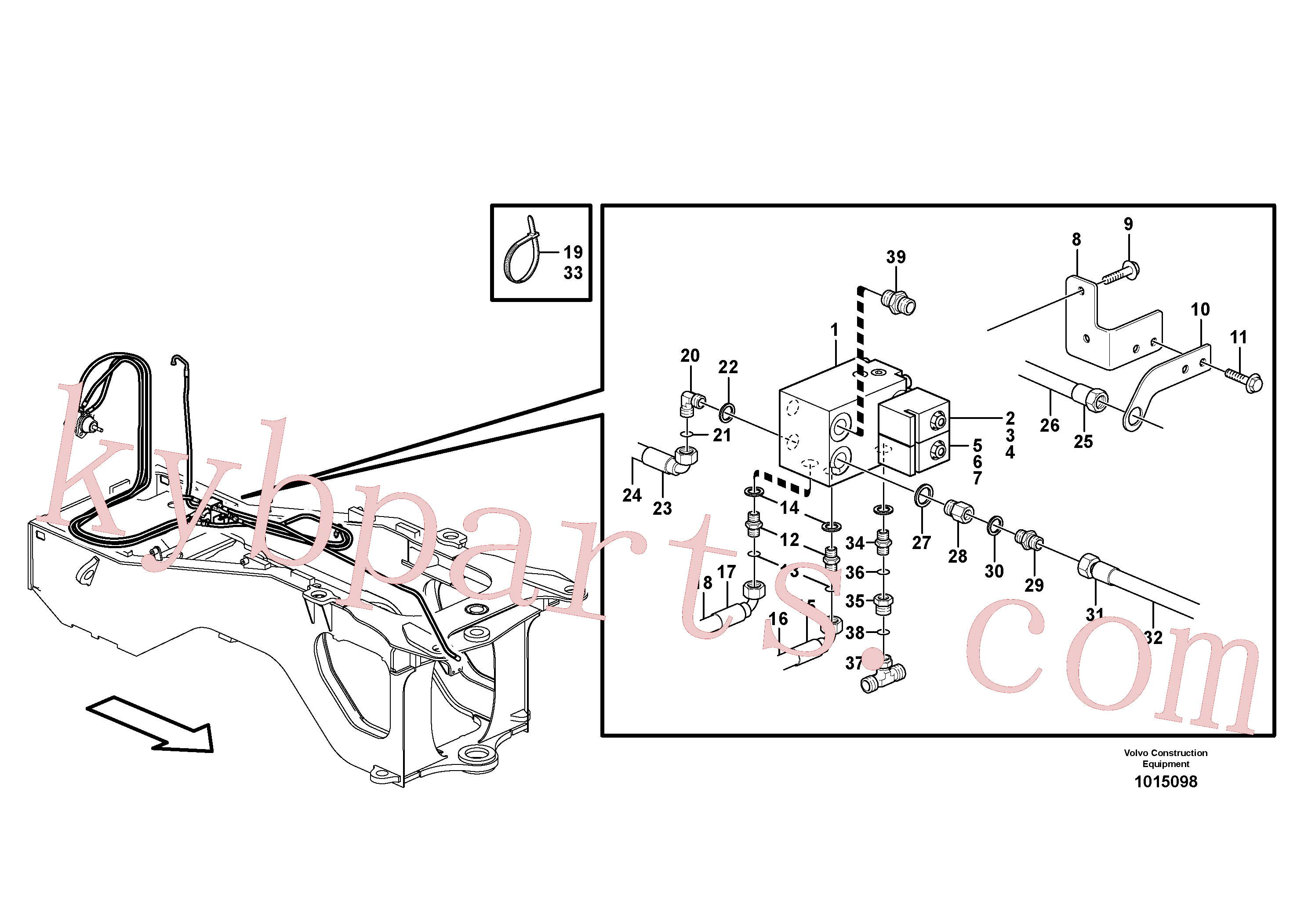 VOE11713401 for Volvo Hoses to fan drive(1015098 assembly)