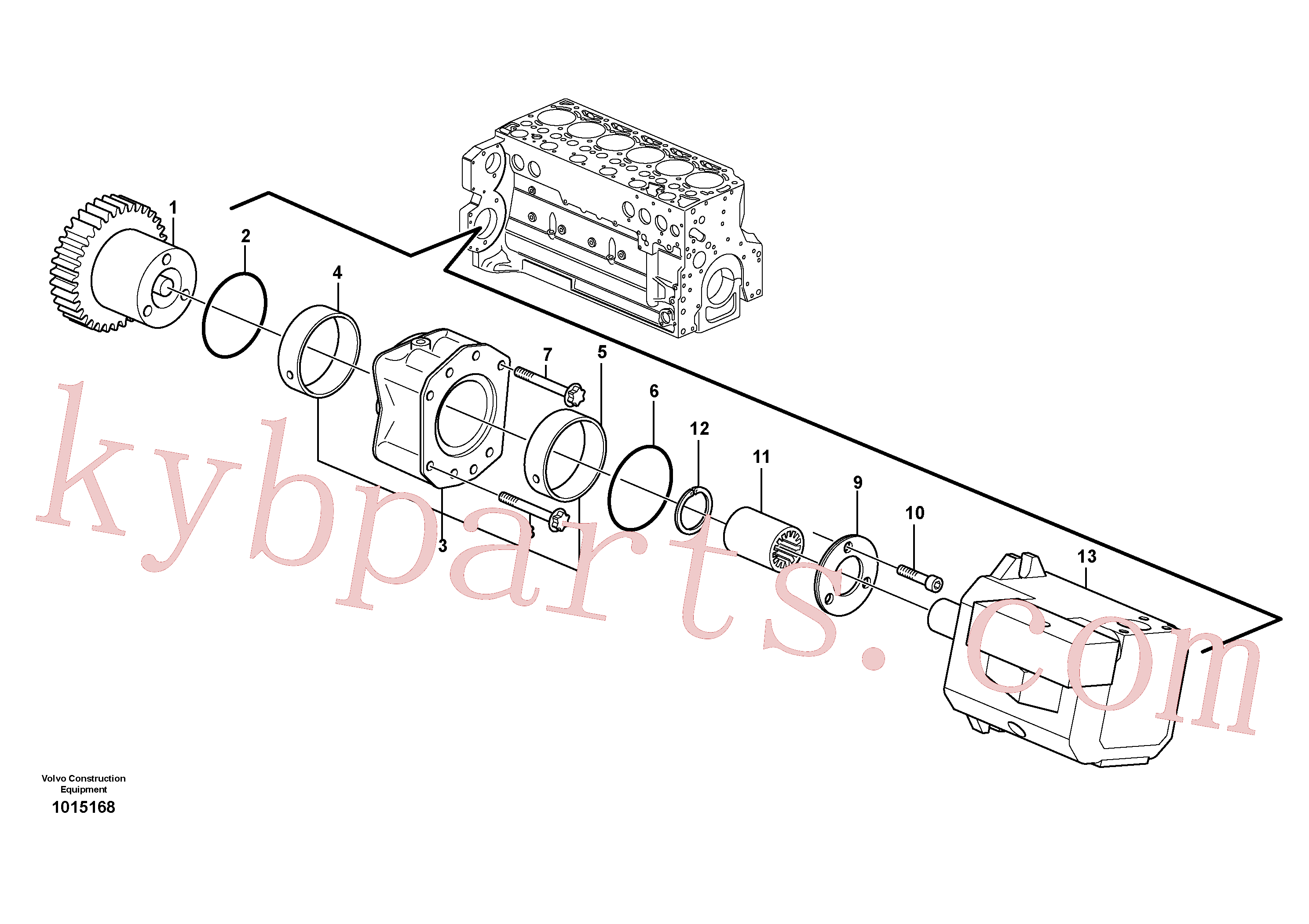 VOE20450820 for Volvo Pump drive power take-off(1015168 assembly)