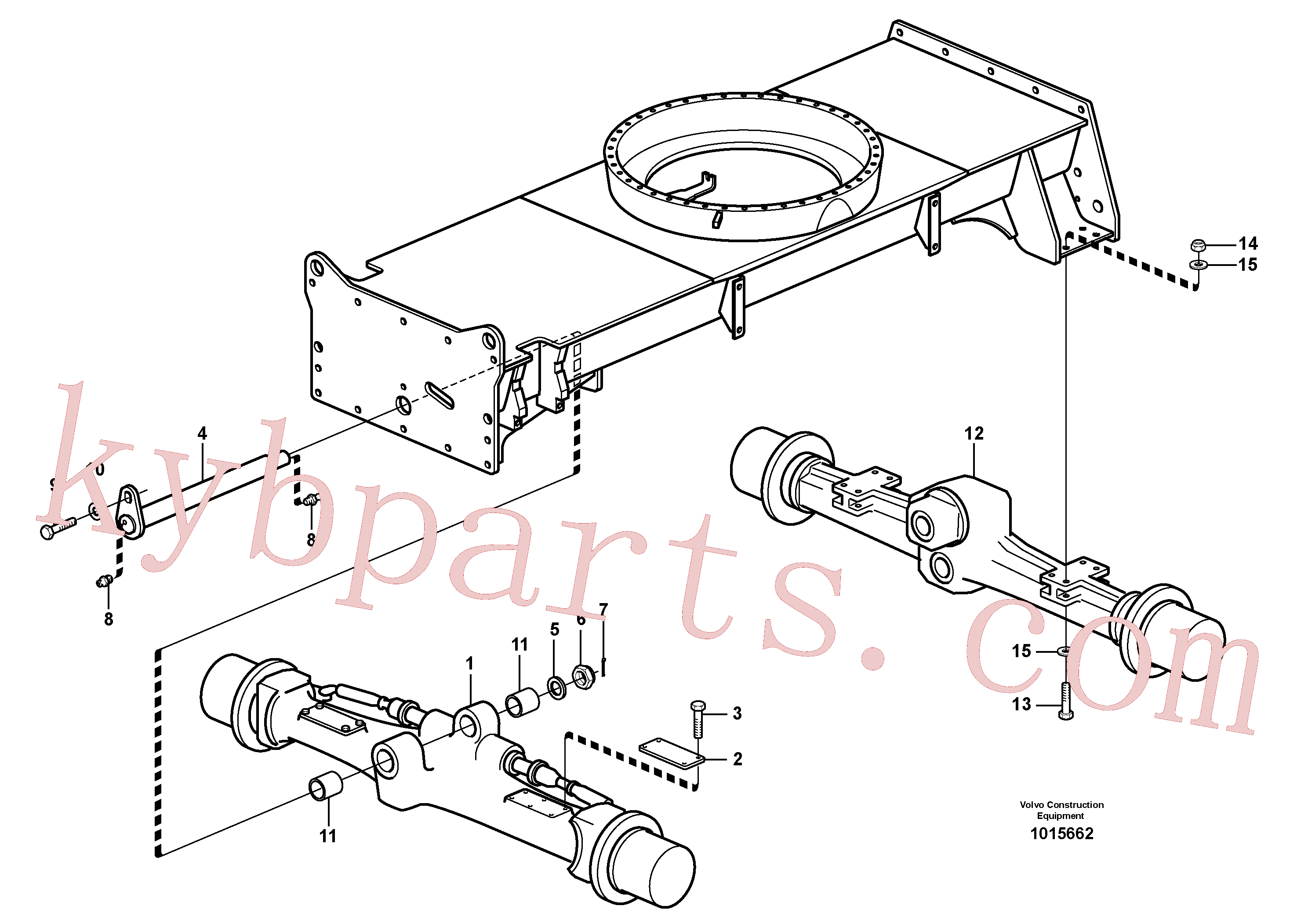 VOE982489 for Volvo Planet axles with fitting parts(1015662 assembly)