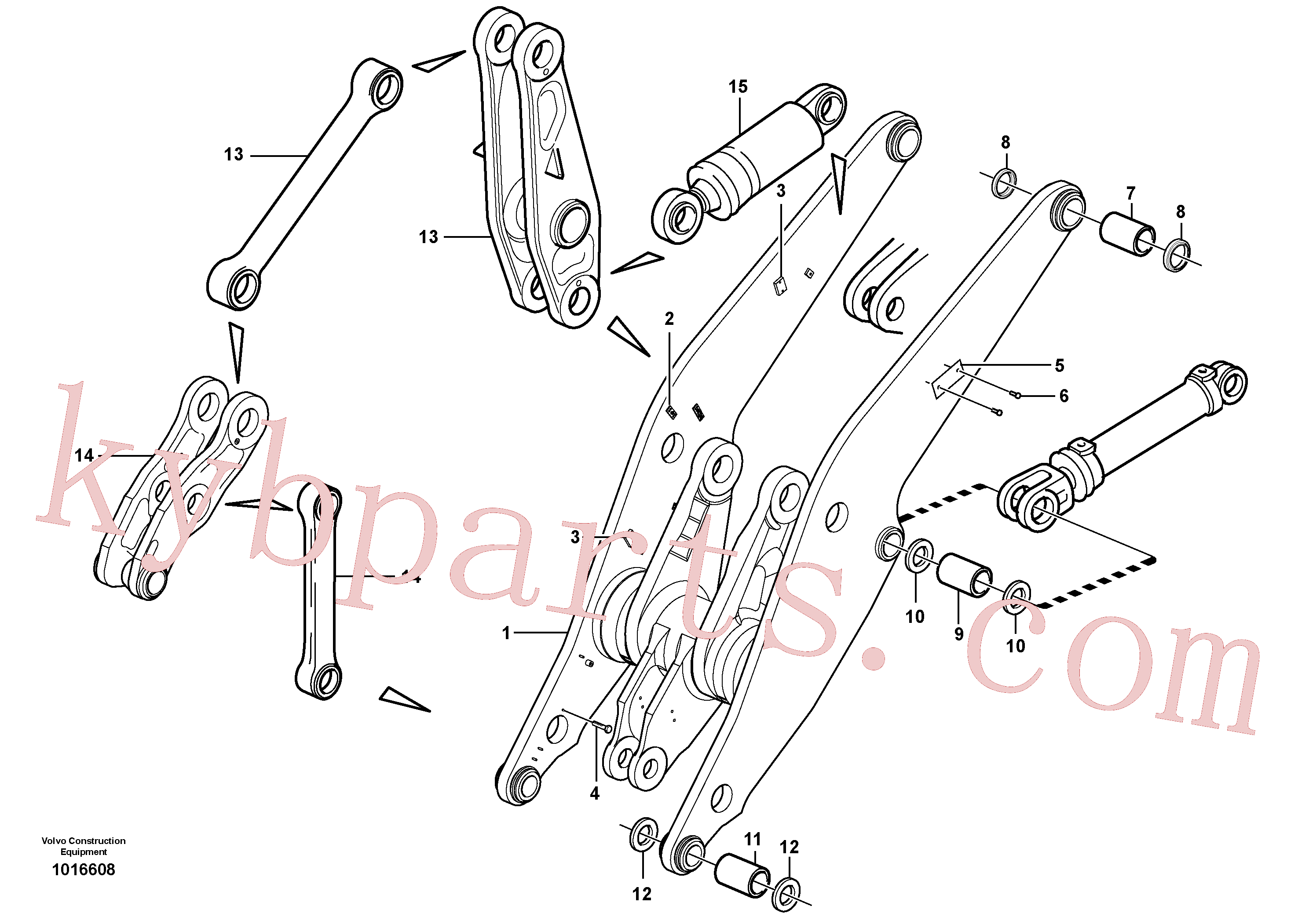 VOE11075281 for Volvo Lifting framework with assembly parts(1016608 assembly)