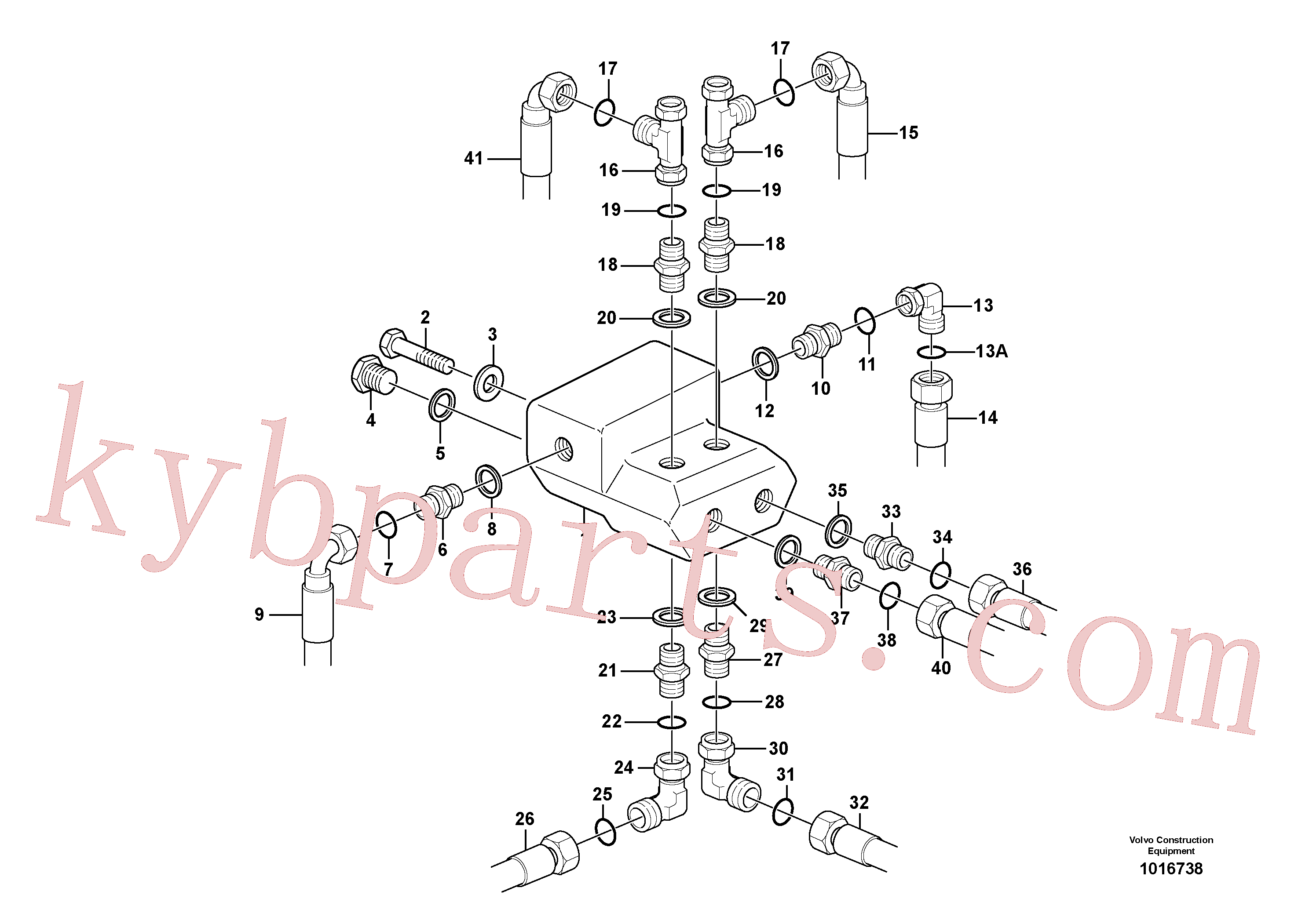RM59923474 for Volvo Shift valve with fitting parts(1016738 assembly)