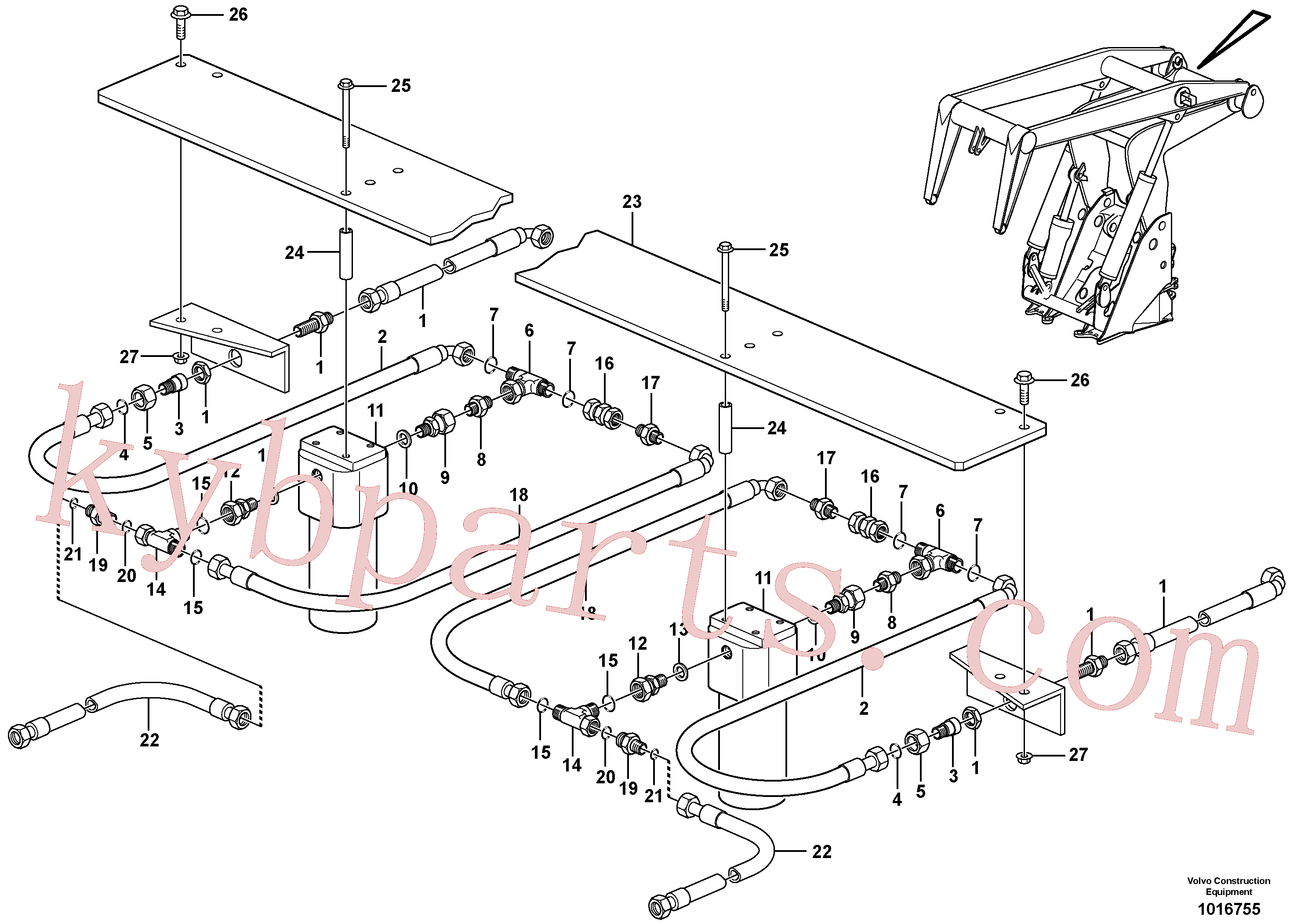 VOE935340 for Volvo Working hydraulics, lift arm(1016755 assembly)
