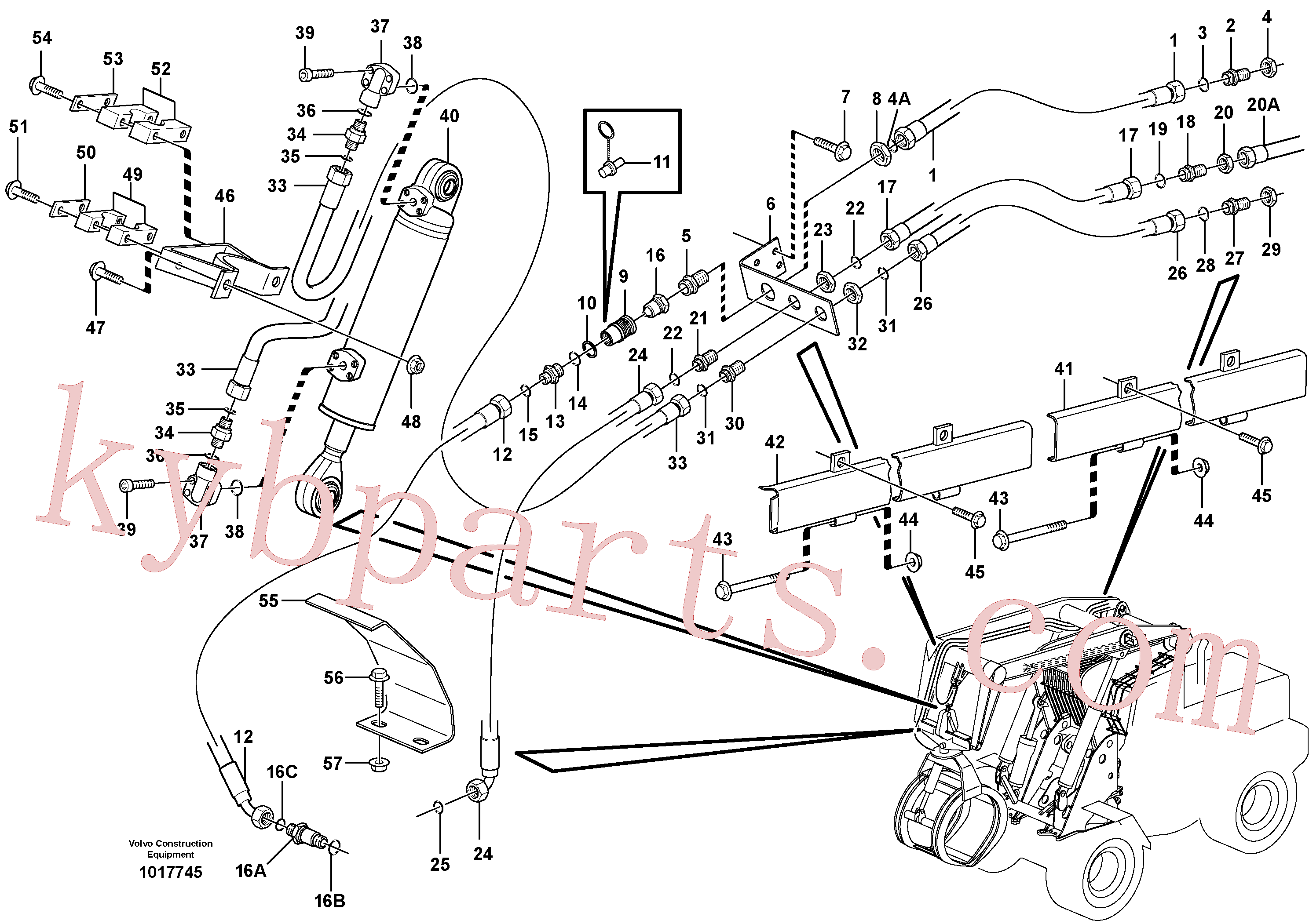 VOE13933875 for Volvo Working hydraulics, lift arm(1017745 assembly)
