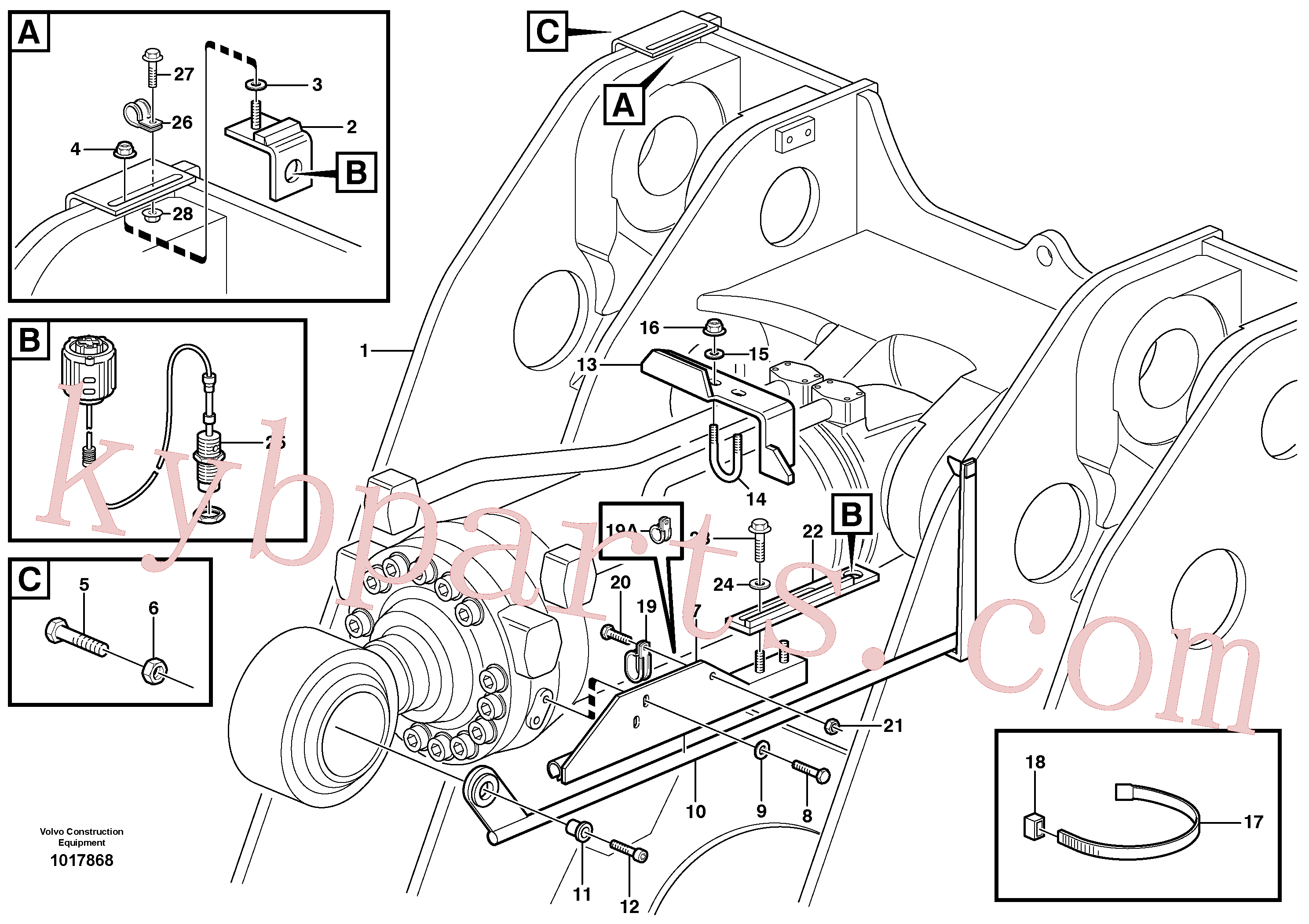 VOE984087 for Volvo Bucket positioner and boom kickout(1017868 assembly)