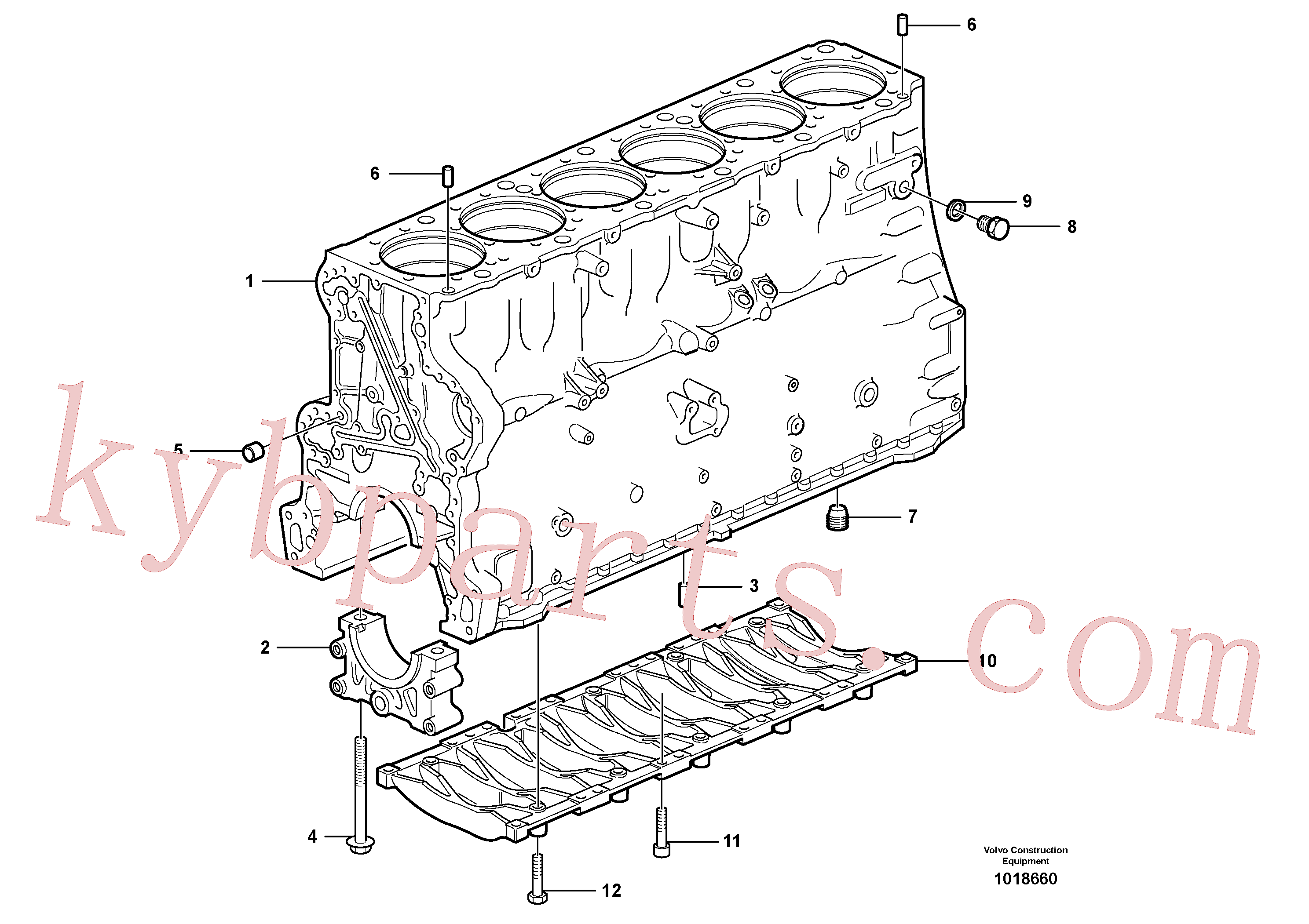 VOE973523 for Volvo Cylinder block(1018660 assembly)
