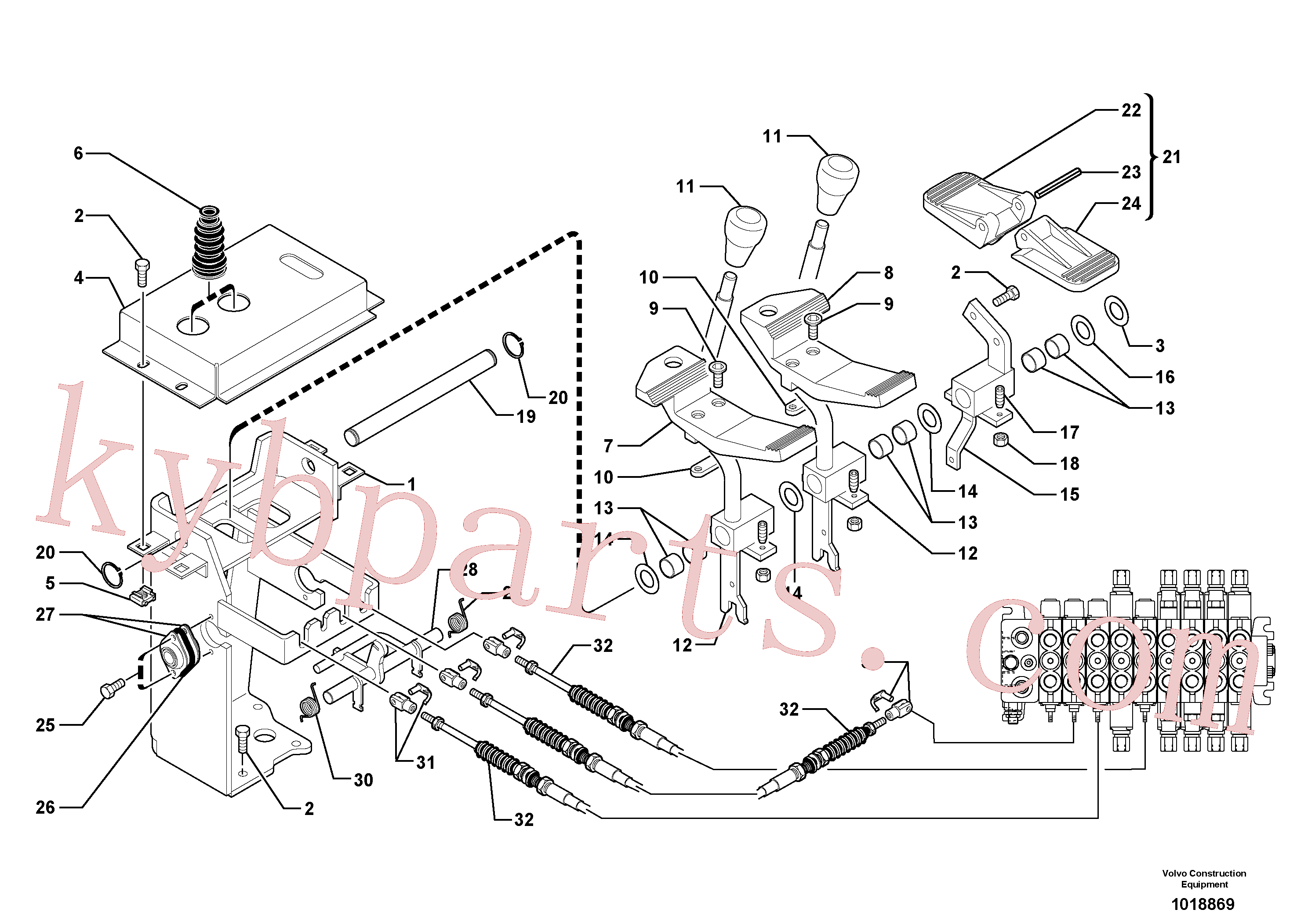 PJ4790011 for Volvo Control levers : plastic pedal(1018869 assembly)