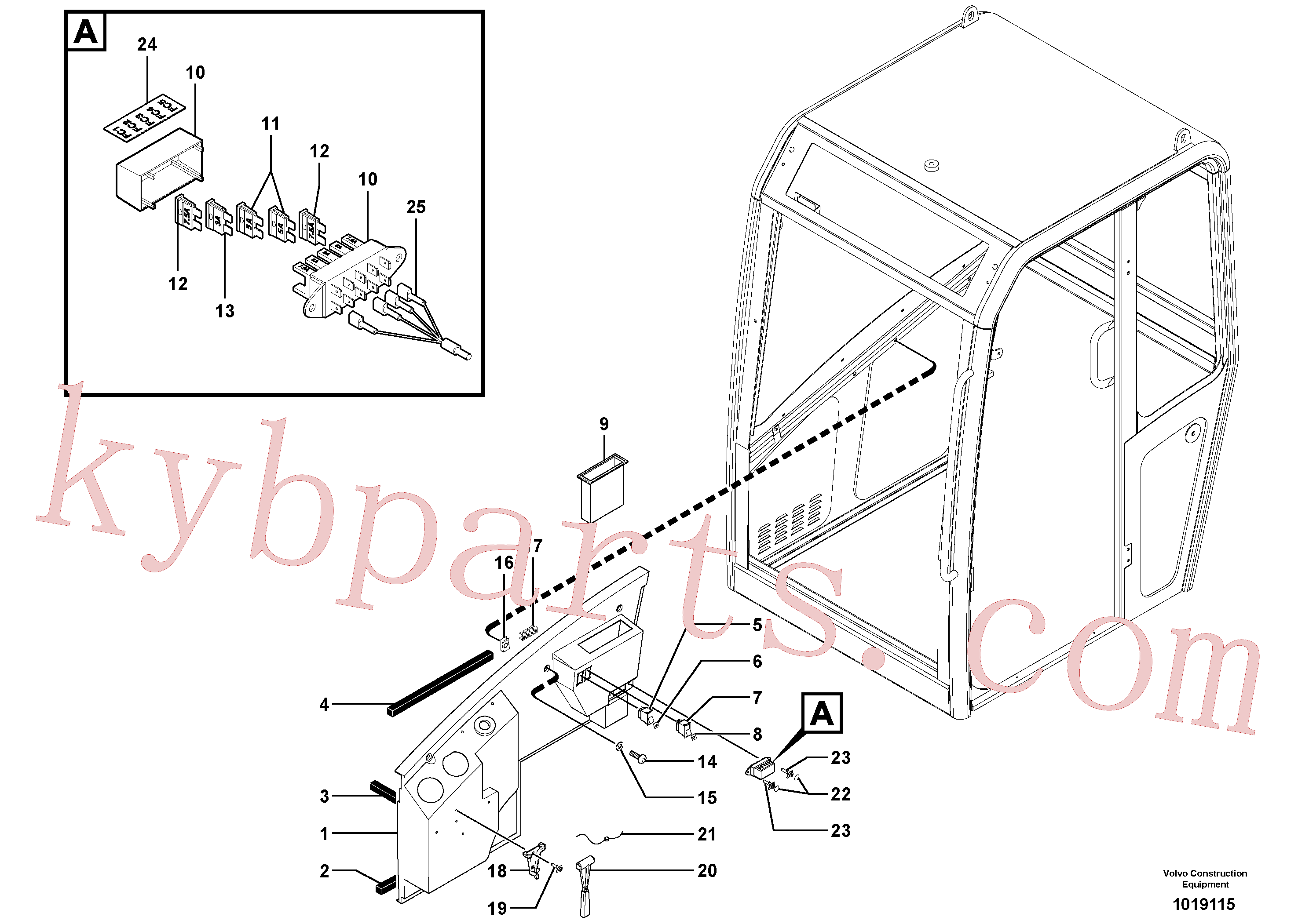 CH73040 for Volvo Cab : console(1019115 assembly)