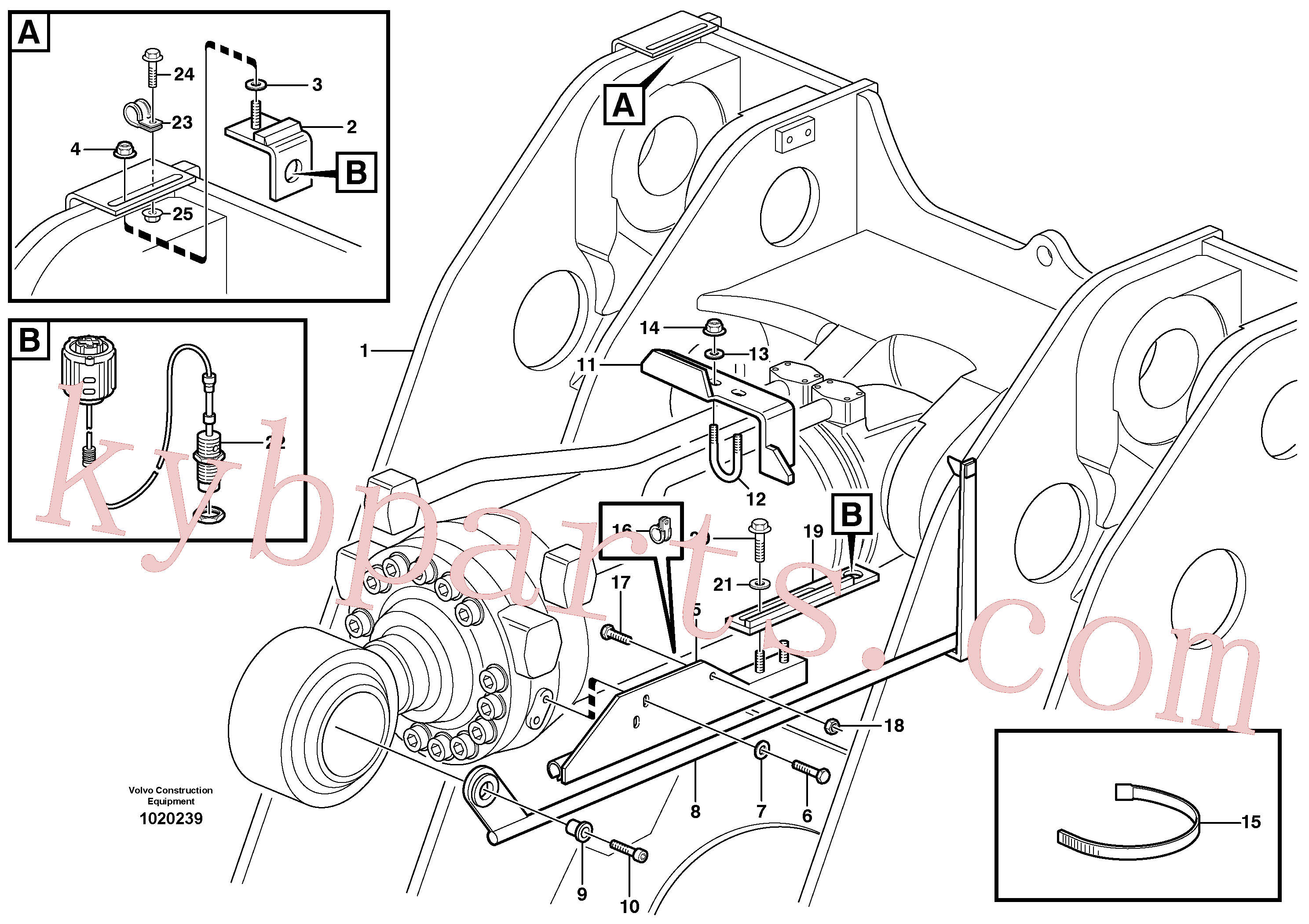 VOE984087 for Volvo Bucket positioner and boom kickout(1020239 assembly)