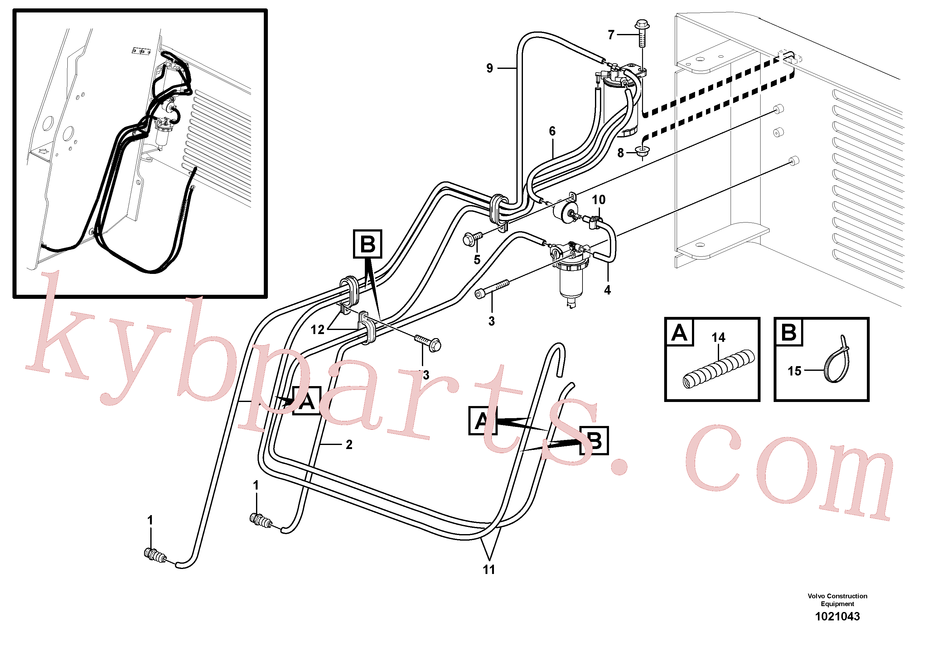 VOE4861452 for Volvo Fuel system(1021043 assembly)