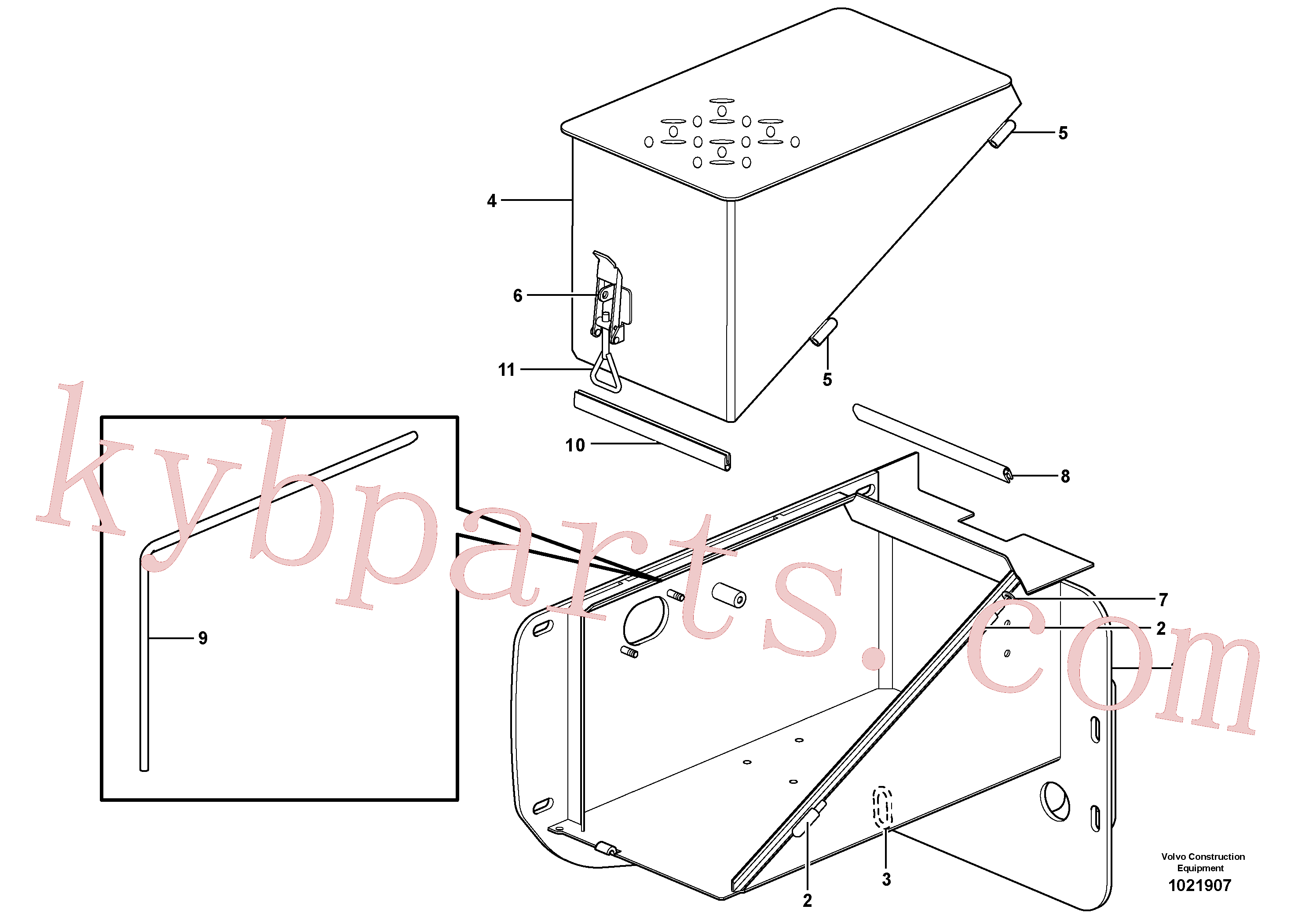 VOE4786676 for Volvo Battery box(1021907 assembly)