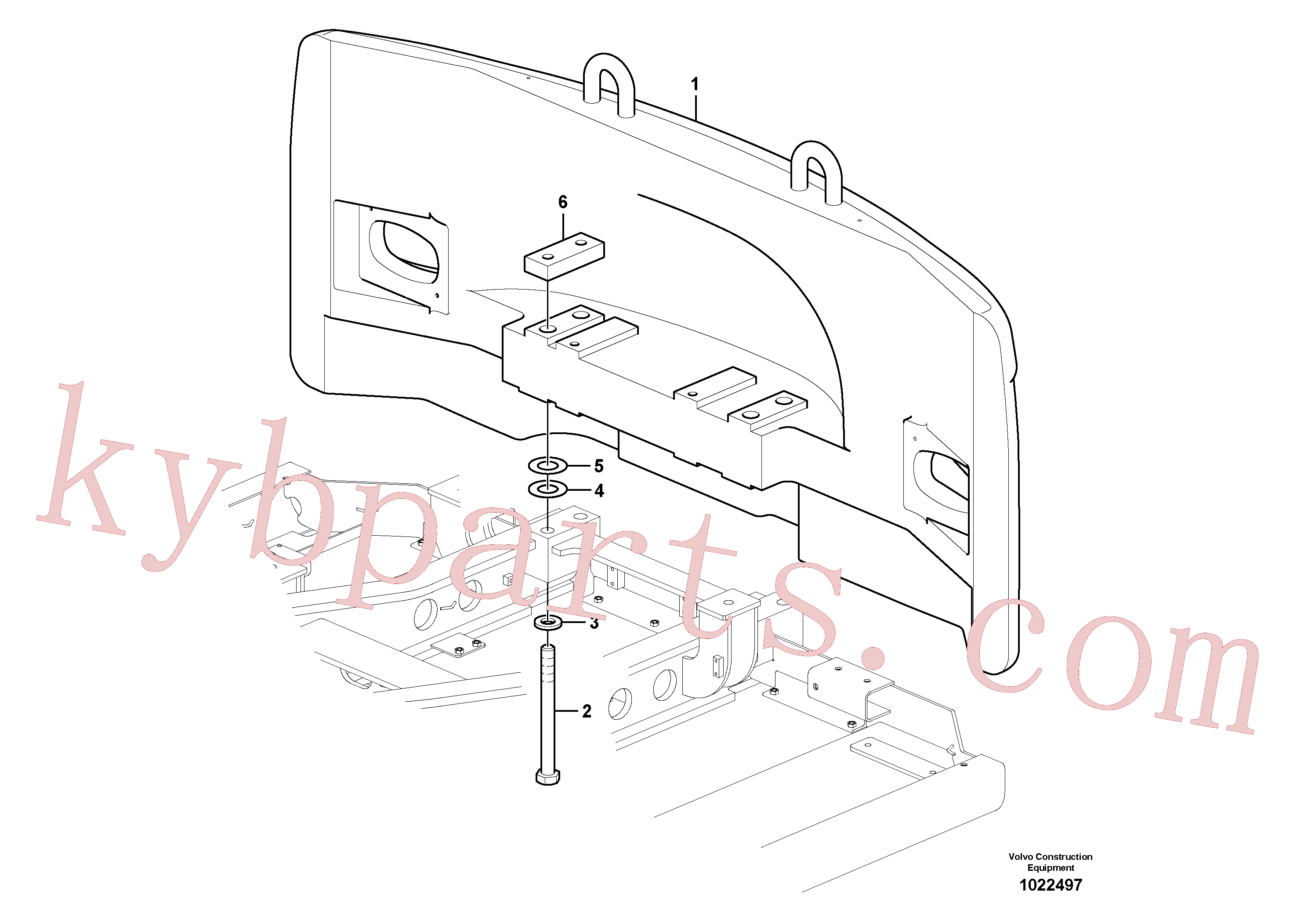 SA9011-23028 for Volvo Counterweights(1022497 assembly)