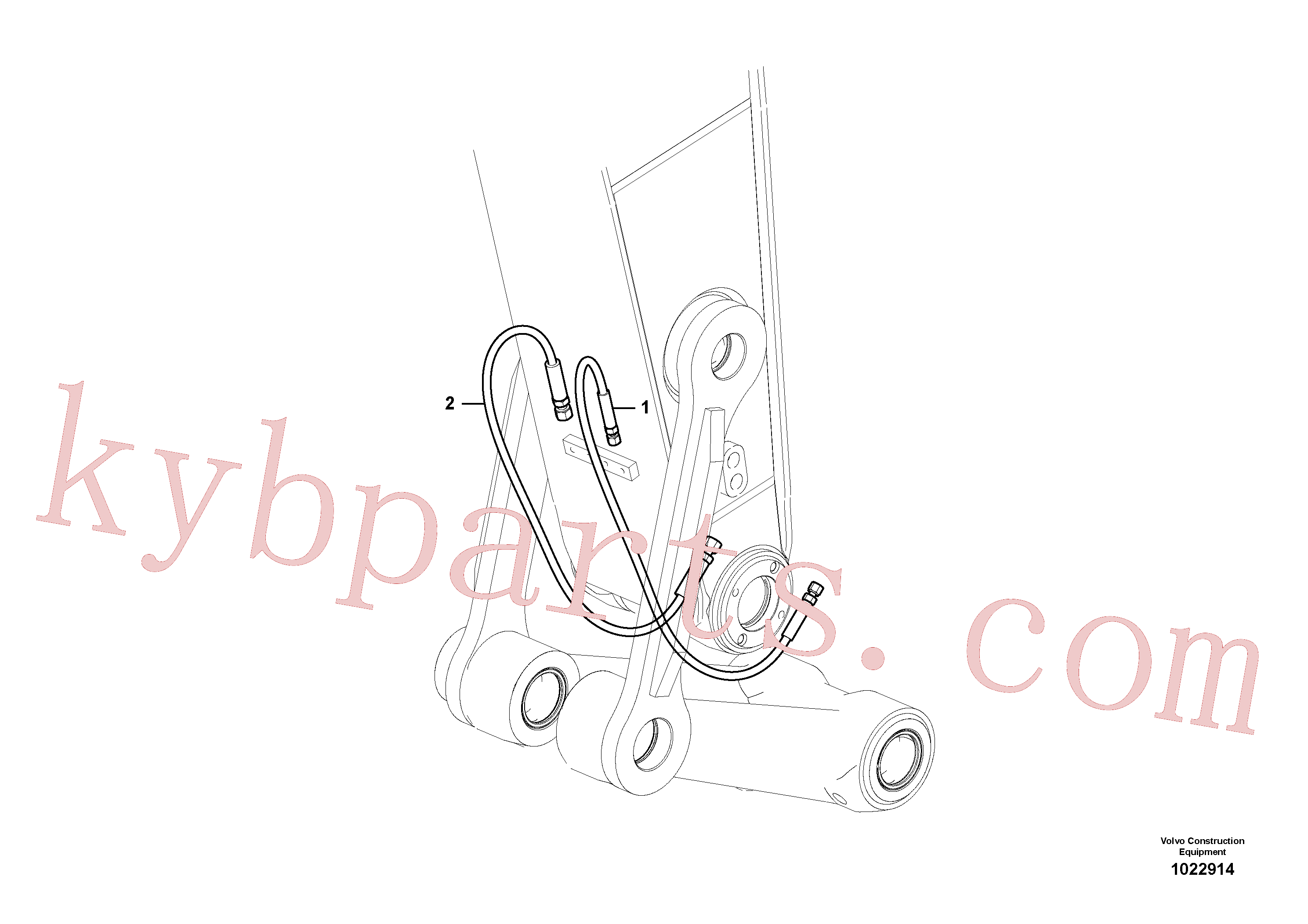 VOE14880145 for Volvo Working hydraulic, quick fit on dipper arm(1022914 assembly)