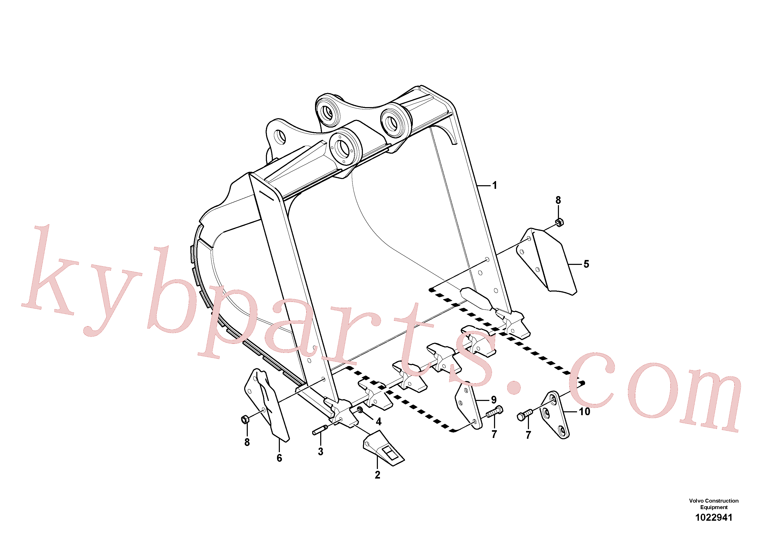 VOE14527865 for Volvo Bucket(1022941 assembly)