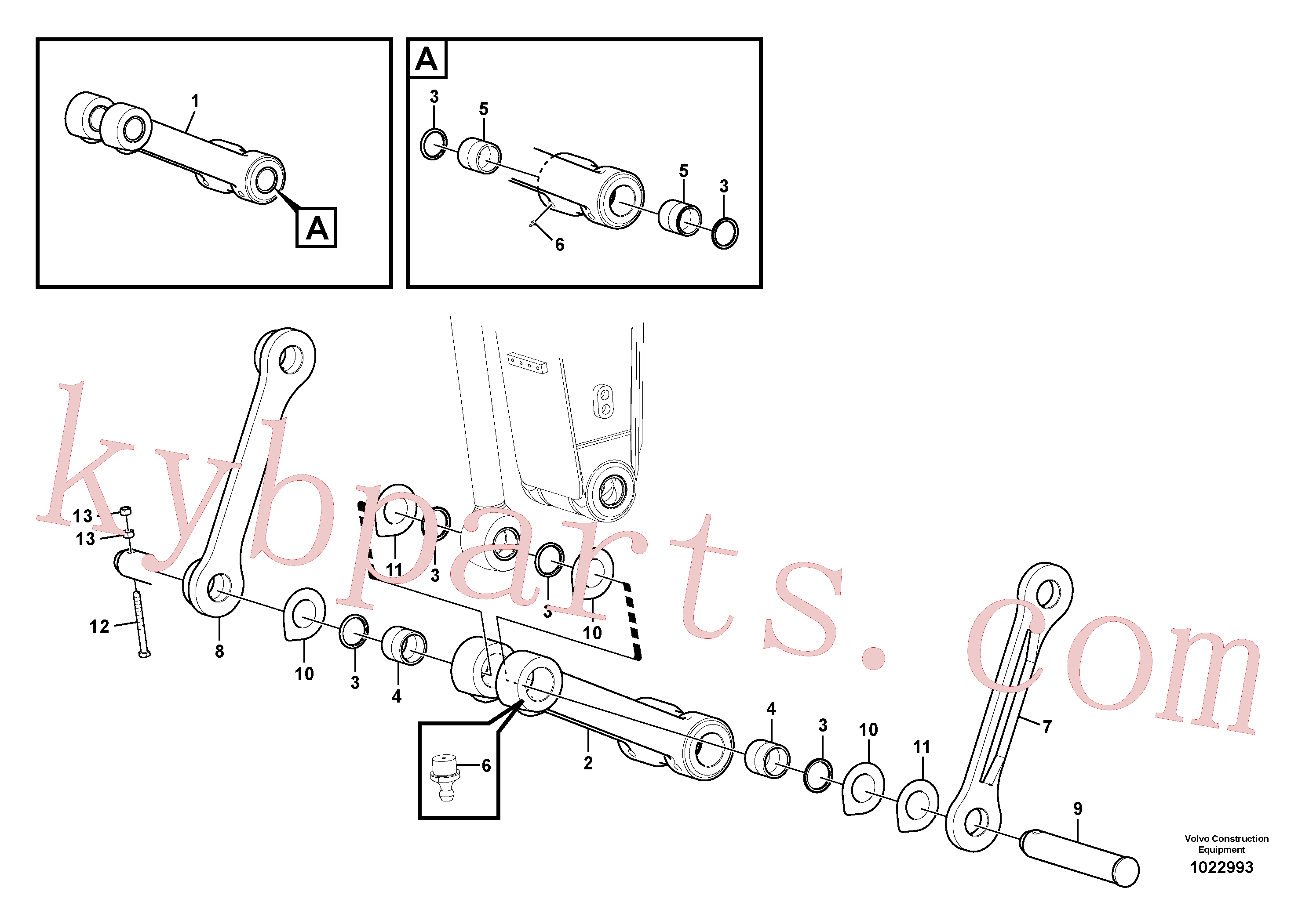 VOE14515613 for Volvo Links to connecting rod(1022993 assembly)
