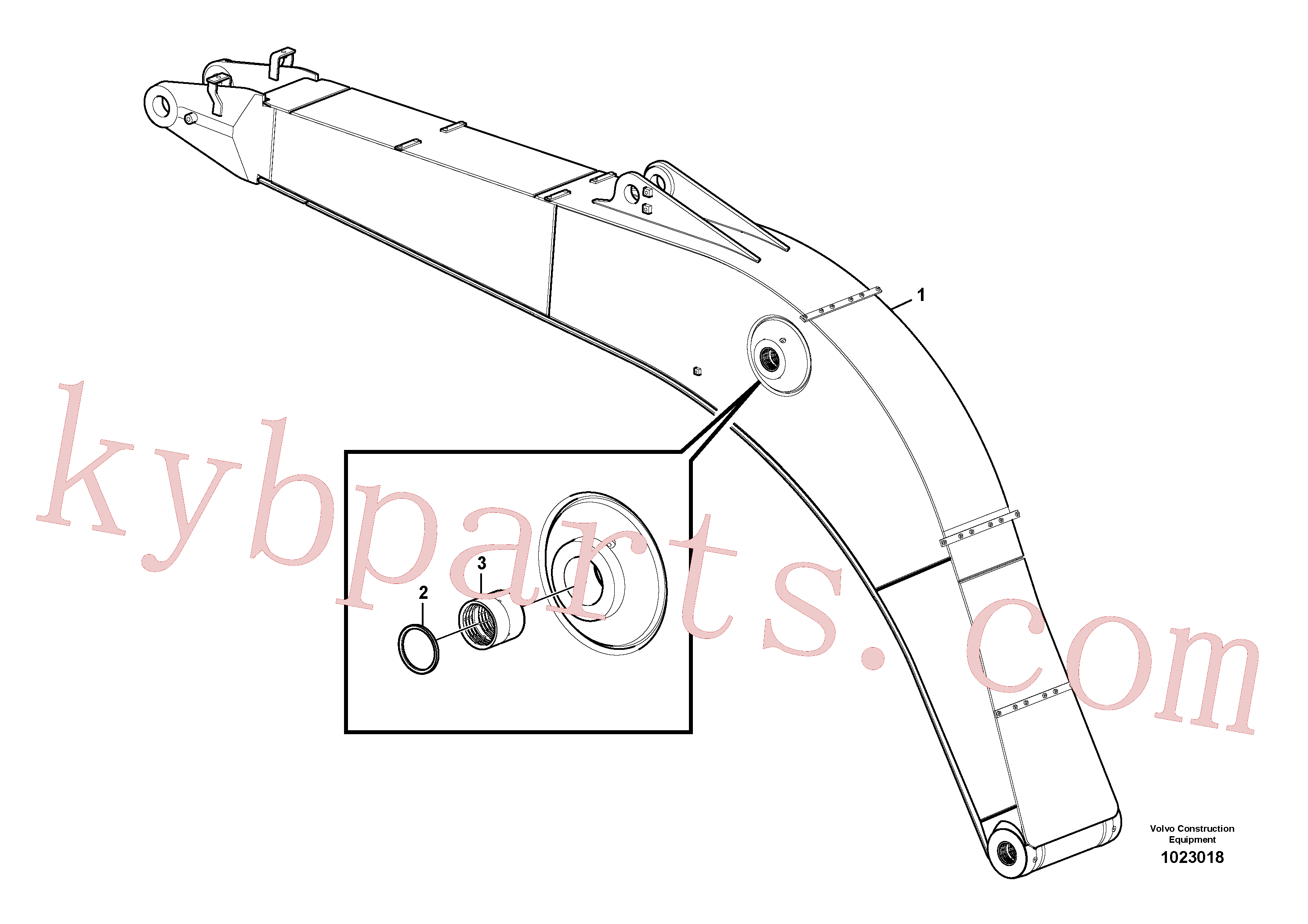 VOE14512446 for Volvo Boom and grease piping(1023018 assembly)