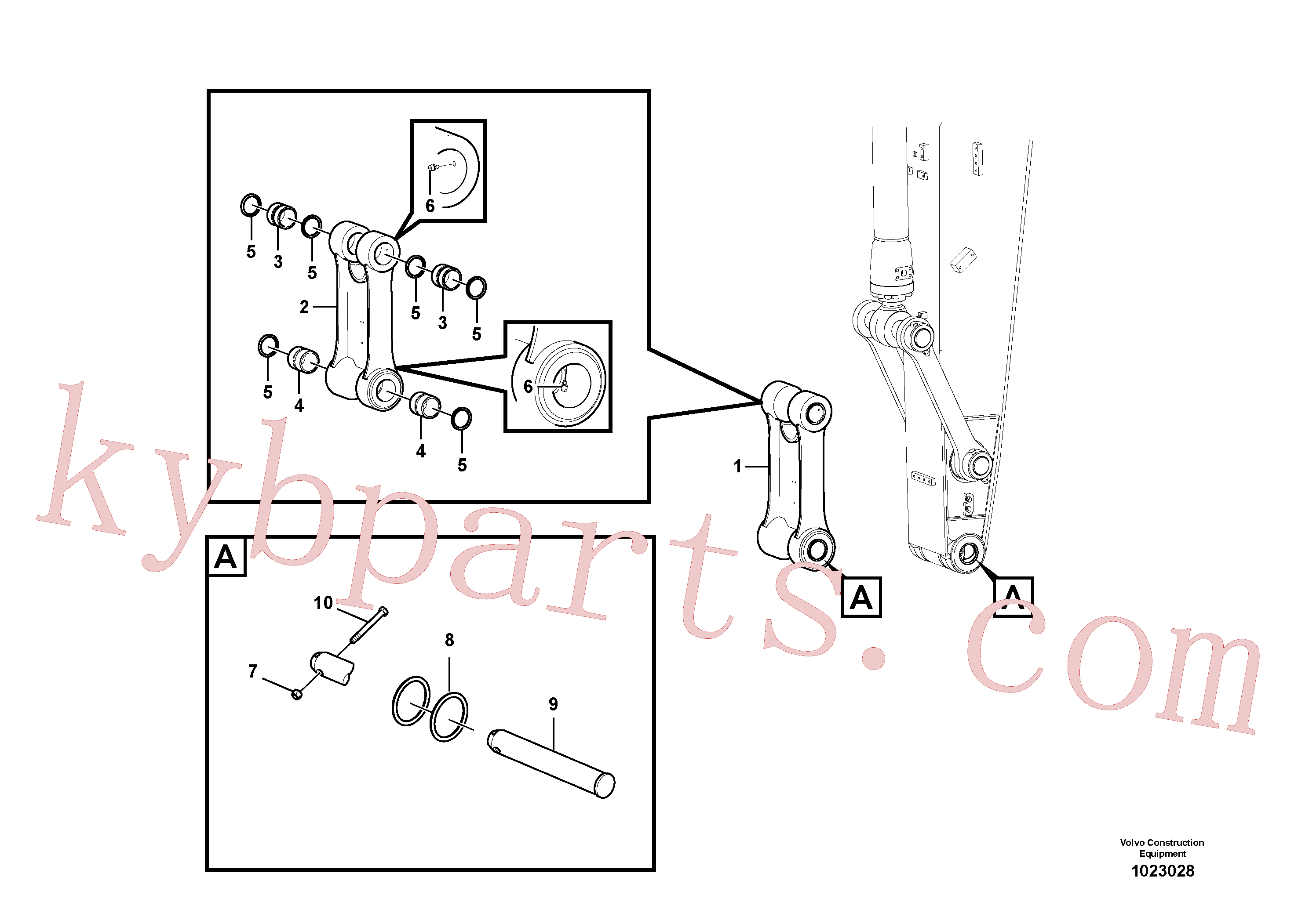 VOE14548218 for Volvo Links to connecting rod(1023028 assembly)