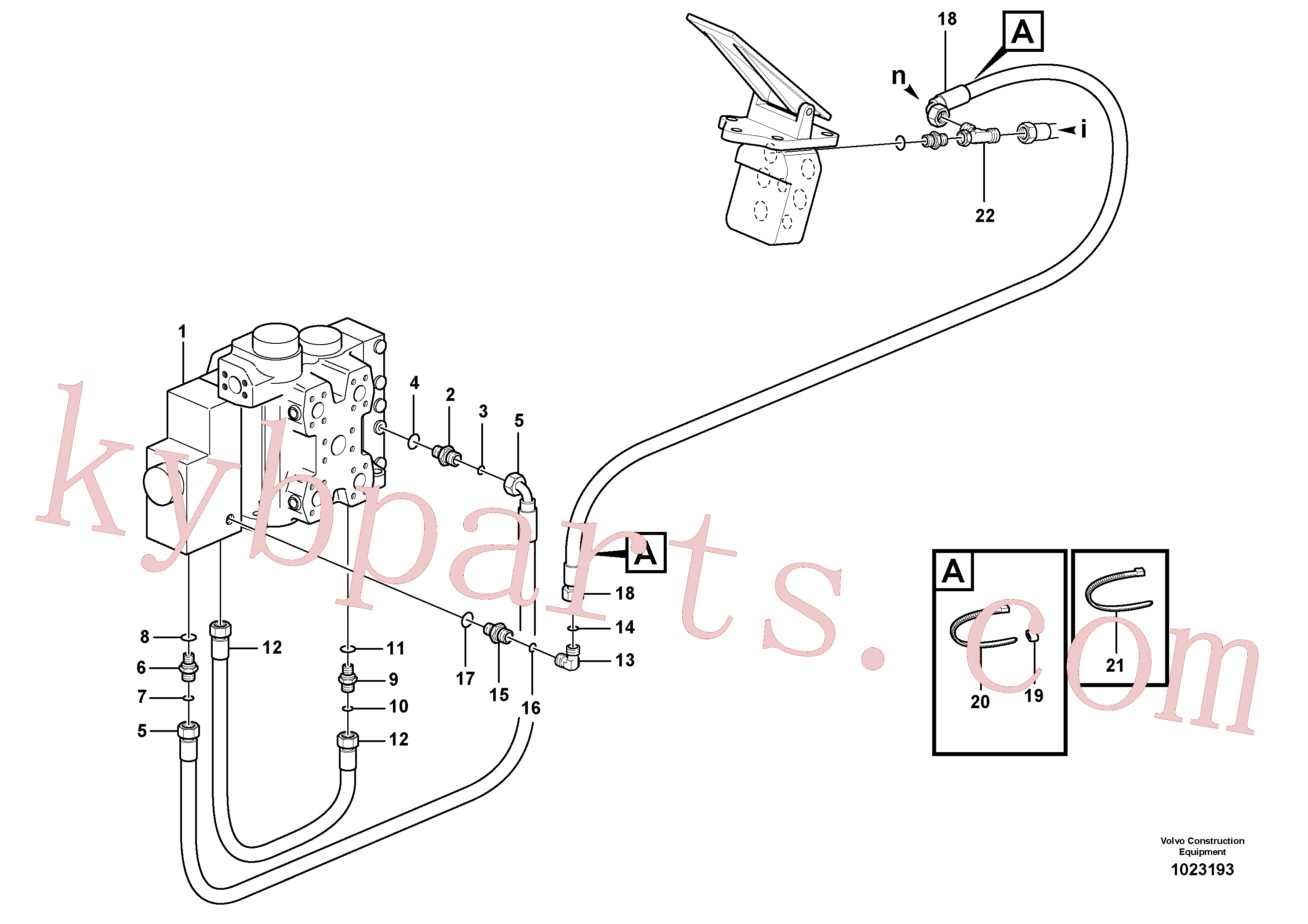VOE936714 for Volvo Drainage line, control valve(1023193 assembly)