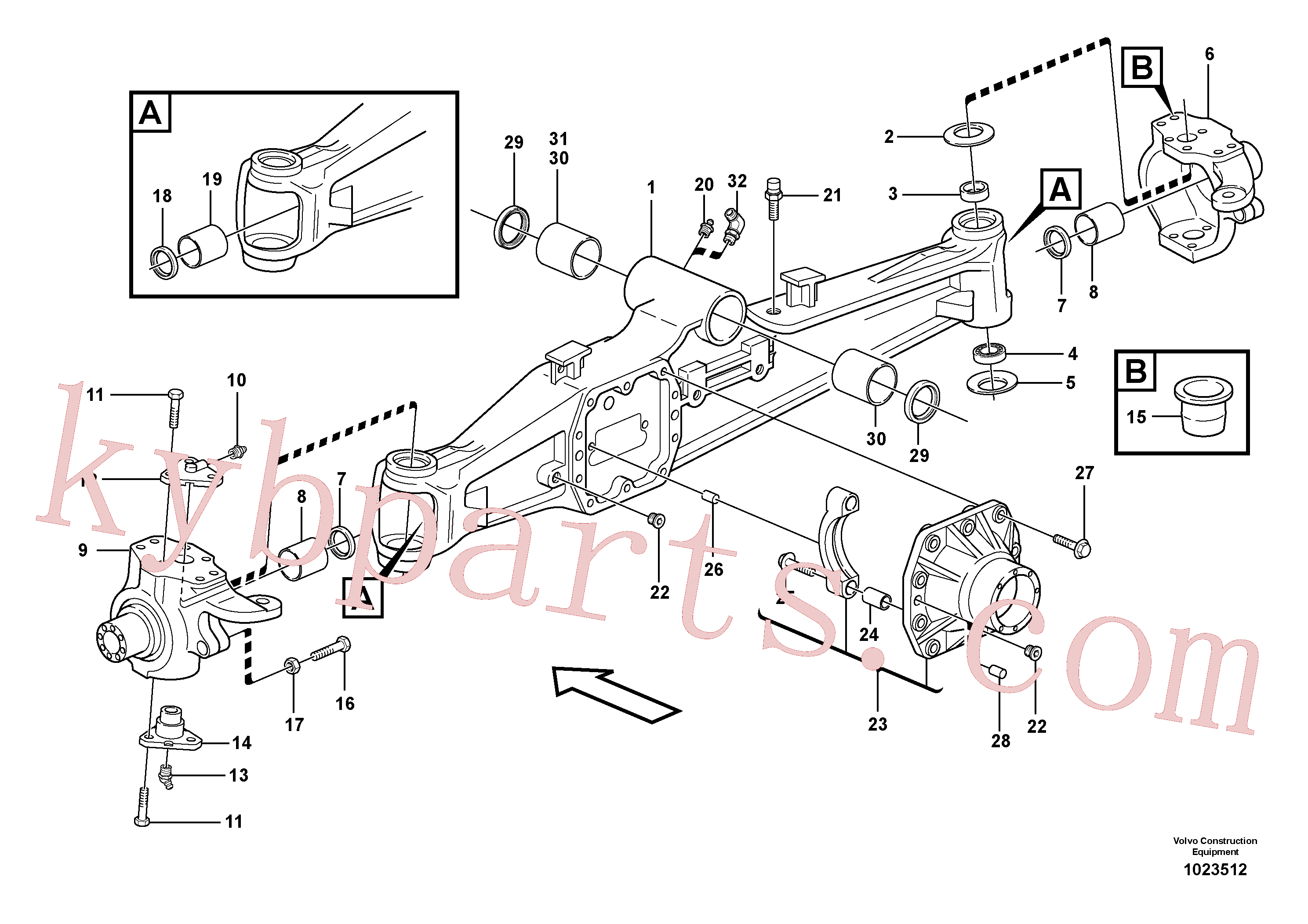 RM59922807 for Volvo Planetary axle, front(1023512 assembly)