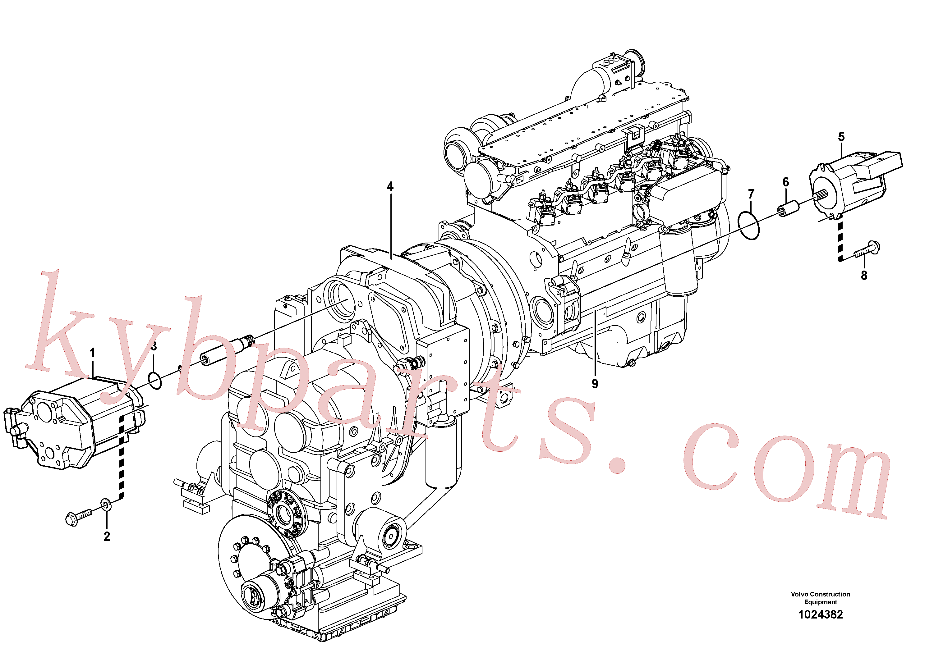 ZM2900652 for Volvo Hydraulic pump with fitting parts(1024382 assembly)