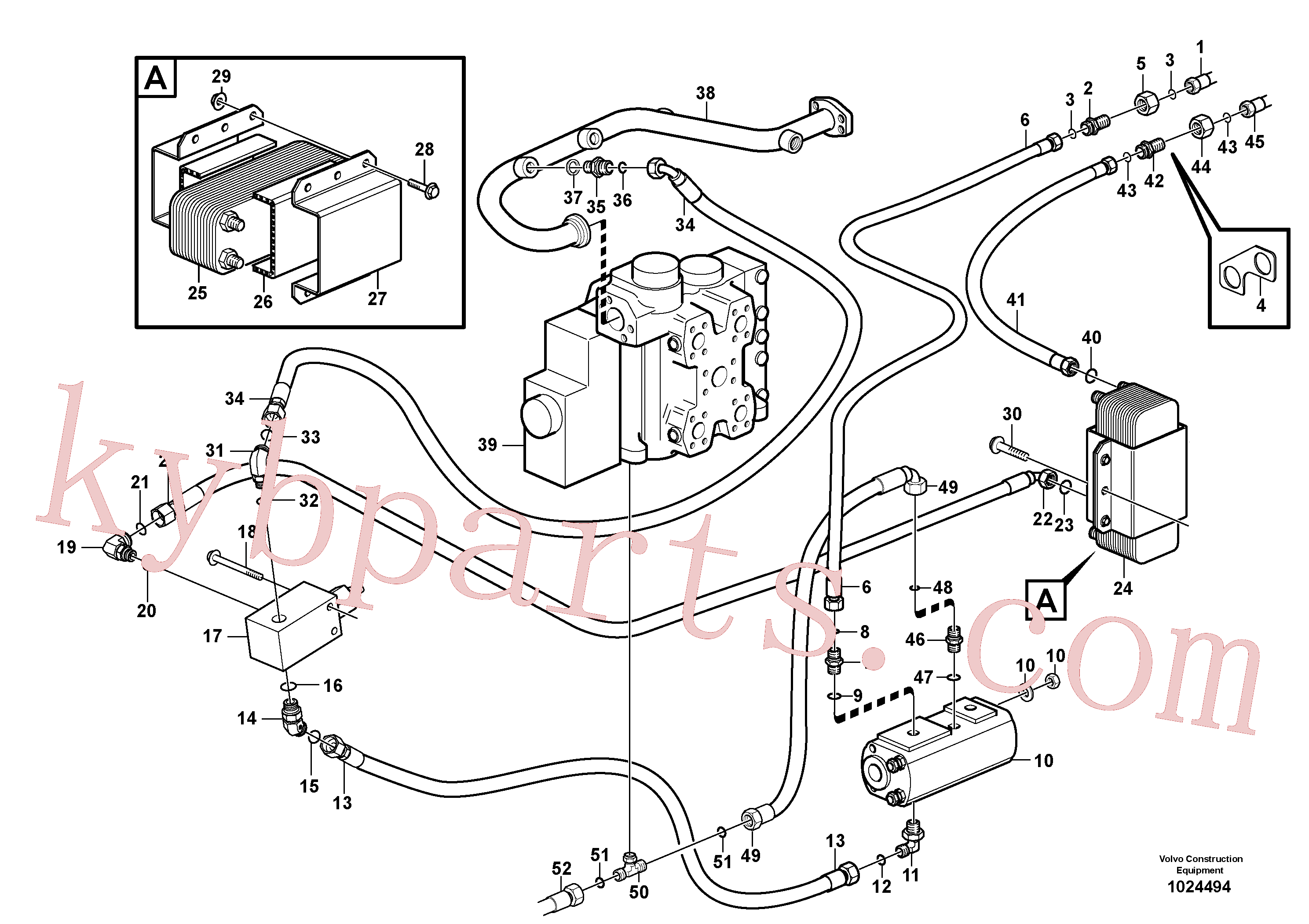 VOE935375 for Volvo Oil cooler, forward, motor circuit.(1024494 assembly)