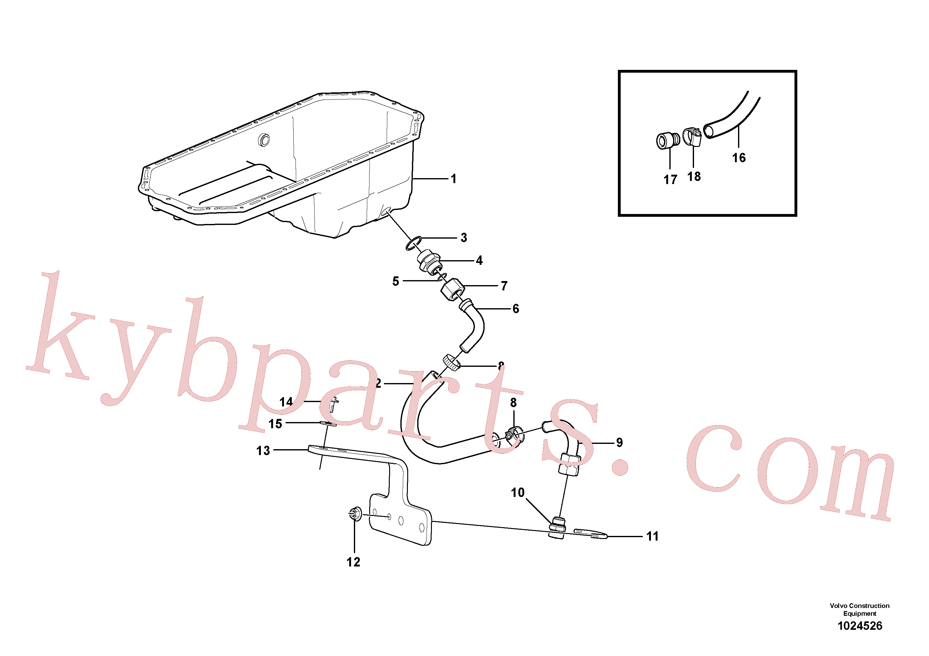 VOE7018813 for Volvo Draining of oil sump(1024526 assembly)
