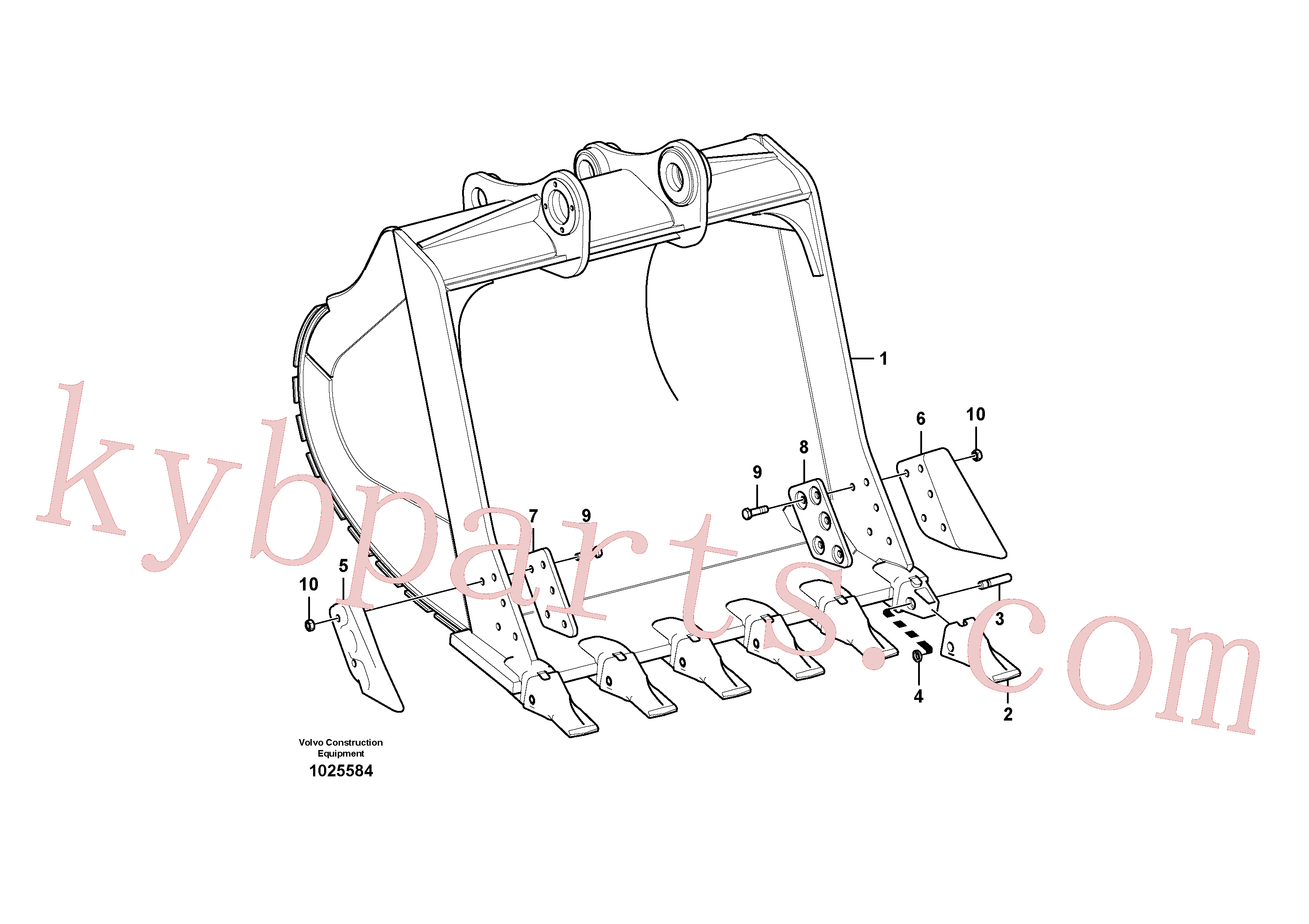 VOE14527865 for Volvo Bucket(1025584 assembly)