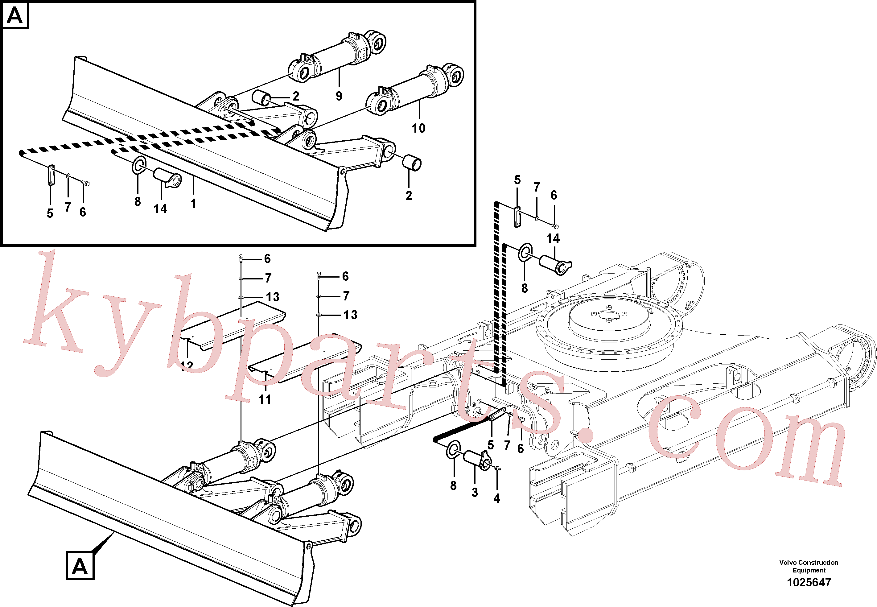 VOE14563806 for Volvo Dozer blade, Undercarriage frame(1025647 assembly)